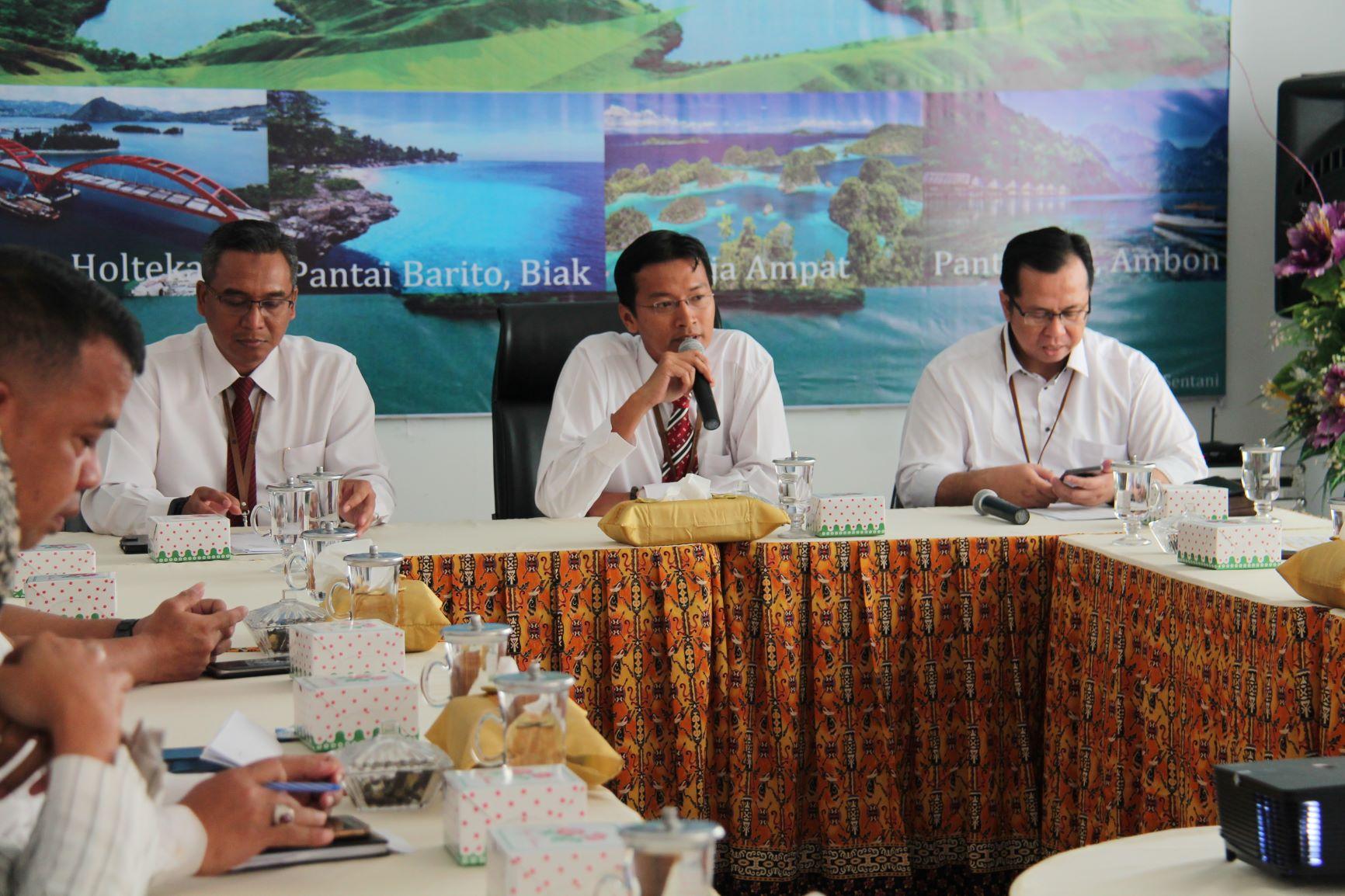 Rapat koordinasi terkait Lelang antara Kanwil DJKN Papabaruku dan PT. Pegadaian (Persero) Area Jayapura