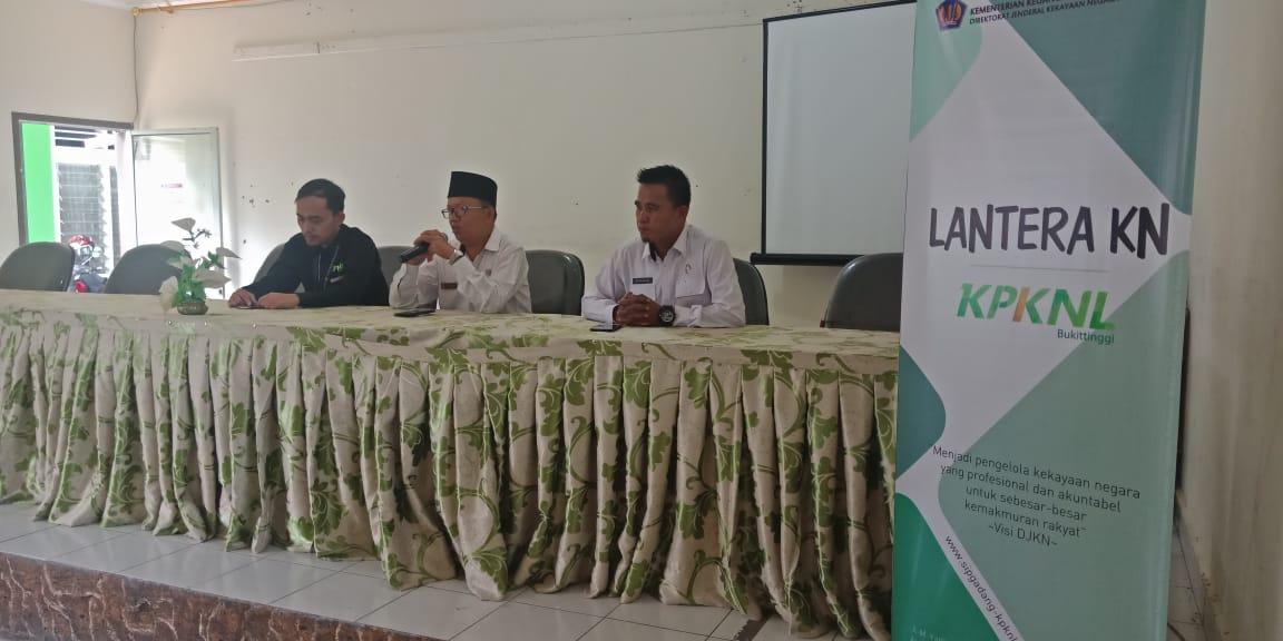 Lantera KN KPKNL Bukittinggi di Tanah Datar, Kemenag : Mempermudah Pengelolaan BMN bagi Satuan Kerja