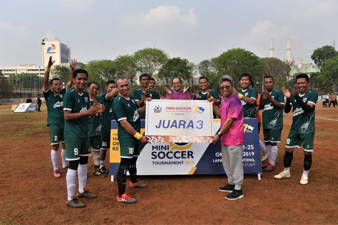 Ikut Peringati Hari Oeang ke-73, DJKN Raih Juara 3 di Cabang Mini Soccer