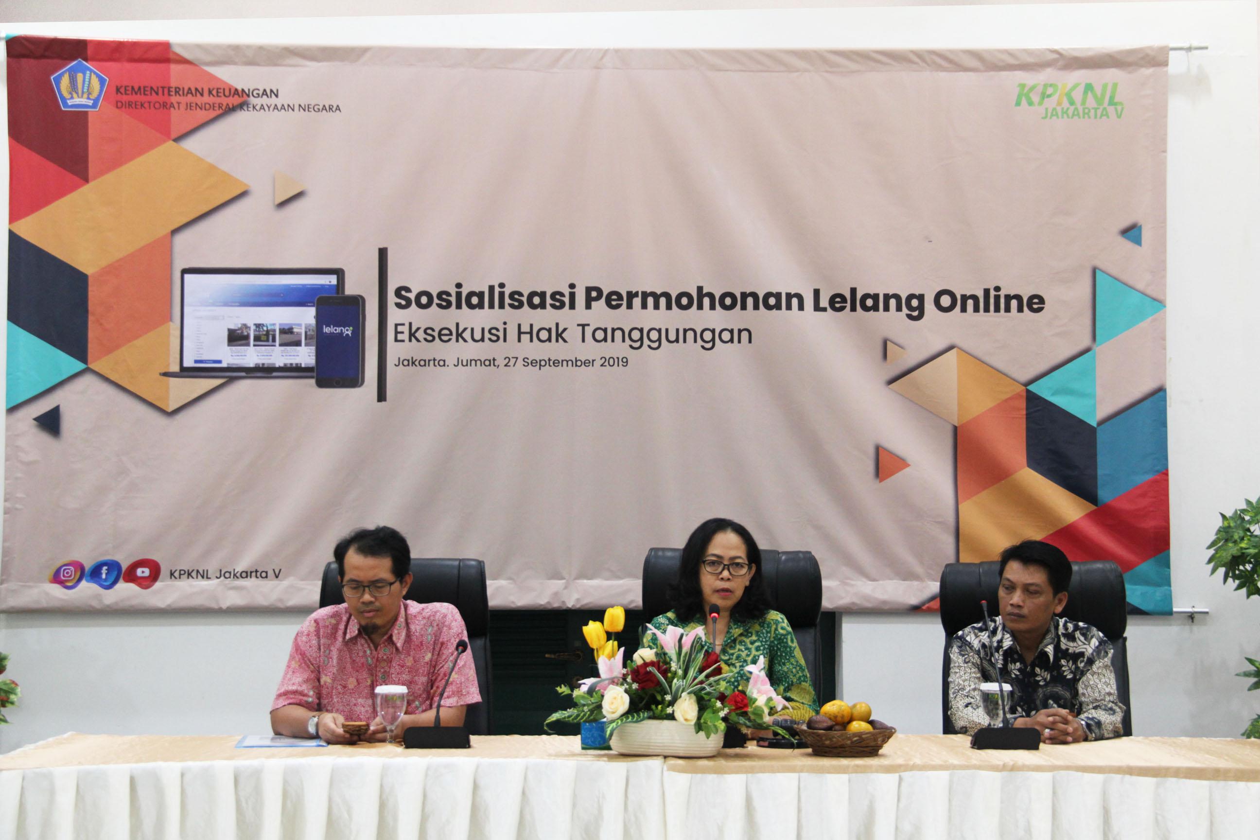Optimalkan Pelayanan Lelang, KPKNL Jakarta V Lakukan Sosialisasi Permohonan Online