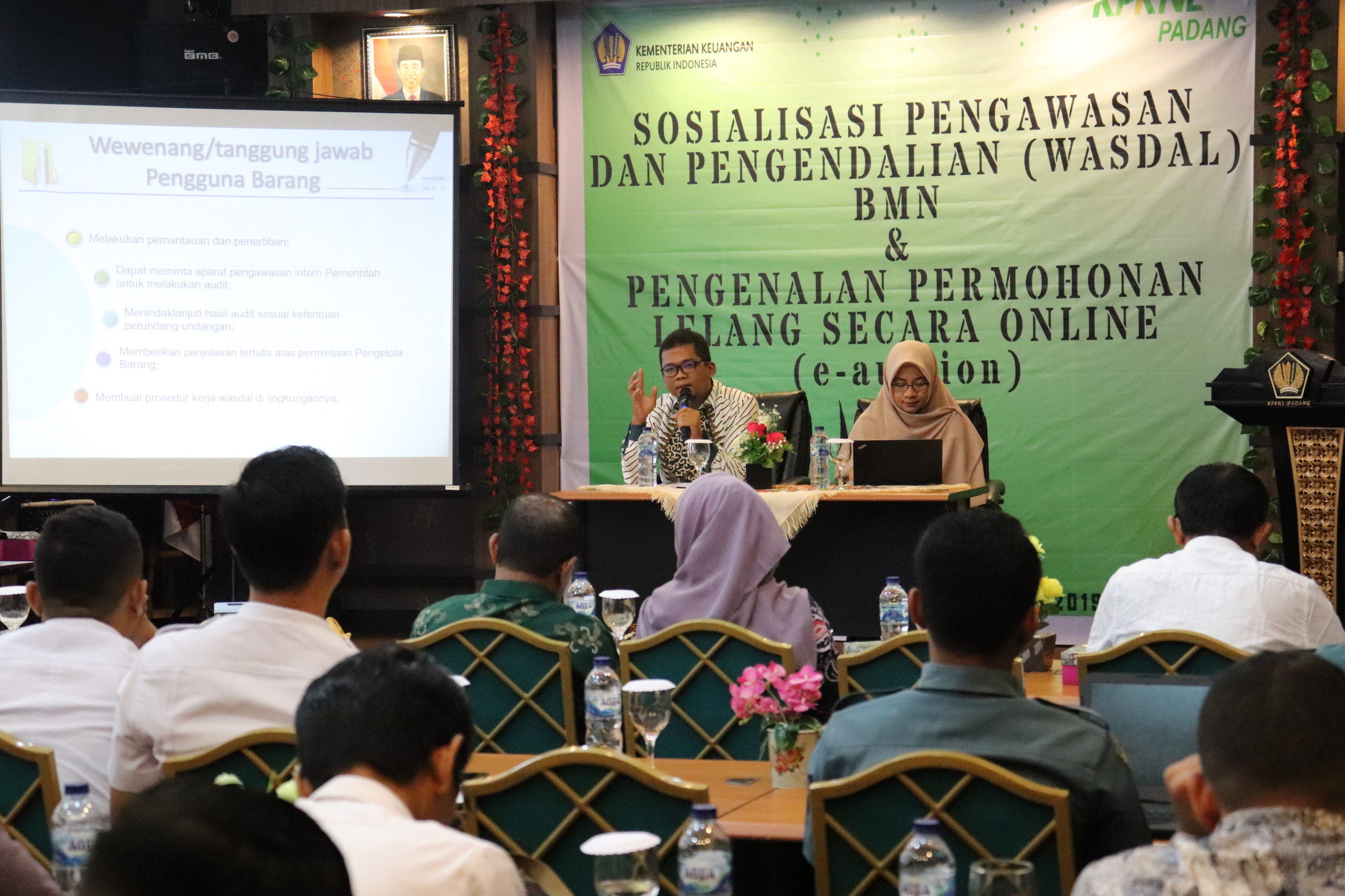KPKNL Padang Gelar Sosialisasi Wasdal BMN dan Permohonan Lelang Online