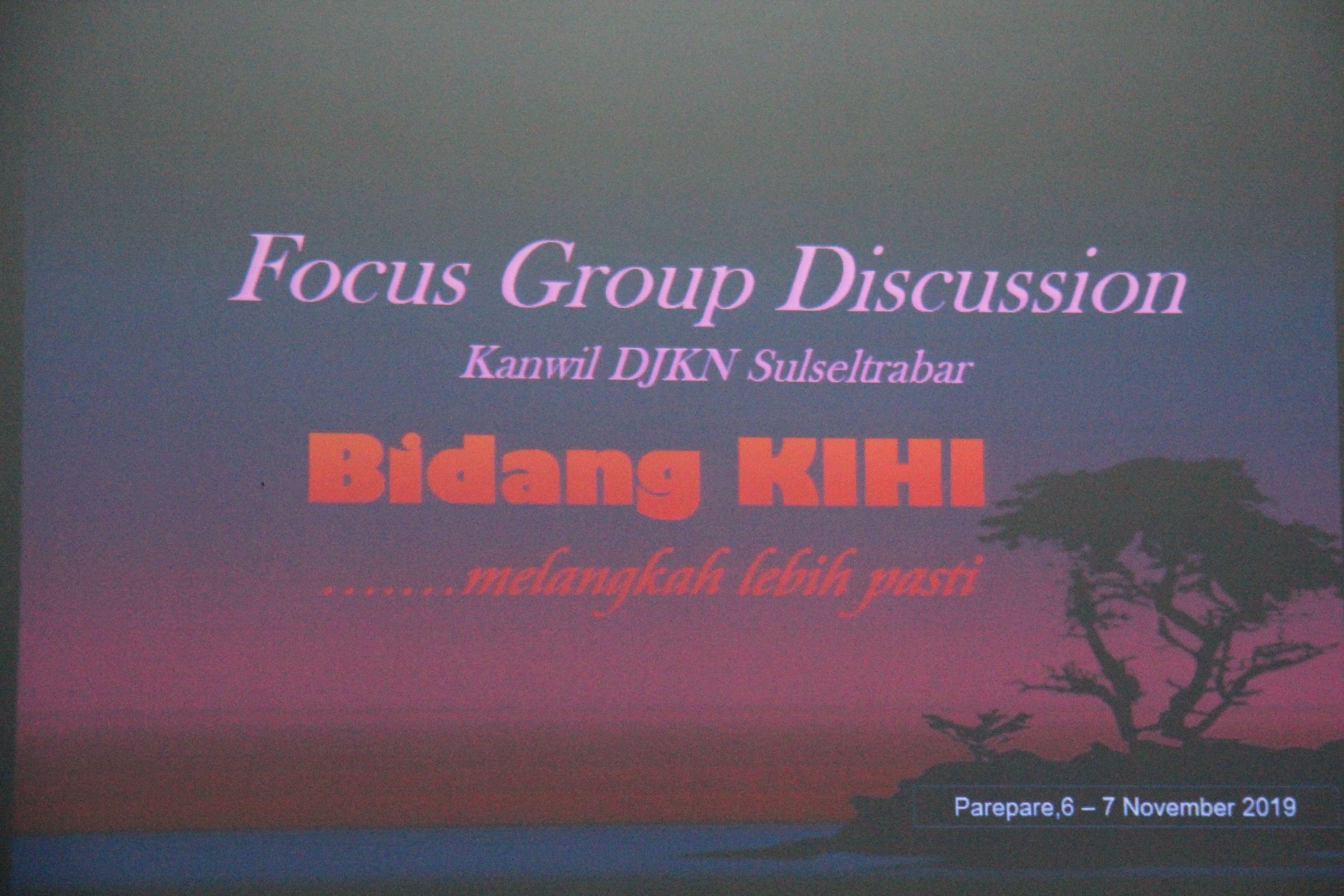 KPKNL Parepare menjadi Tuan Rumah Focus Group DIscussion Bidang KIHI Kanwil DJKN Sulseltrabar