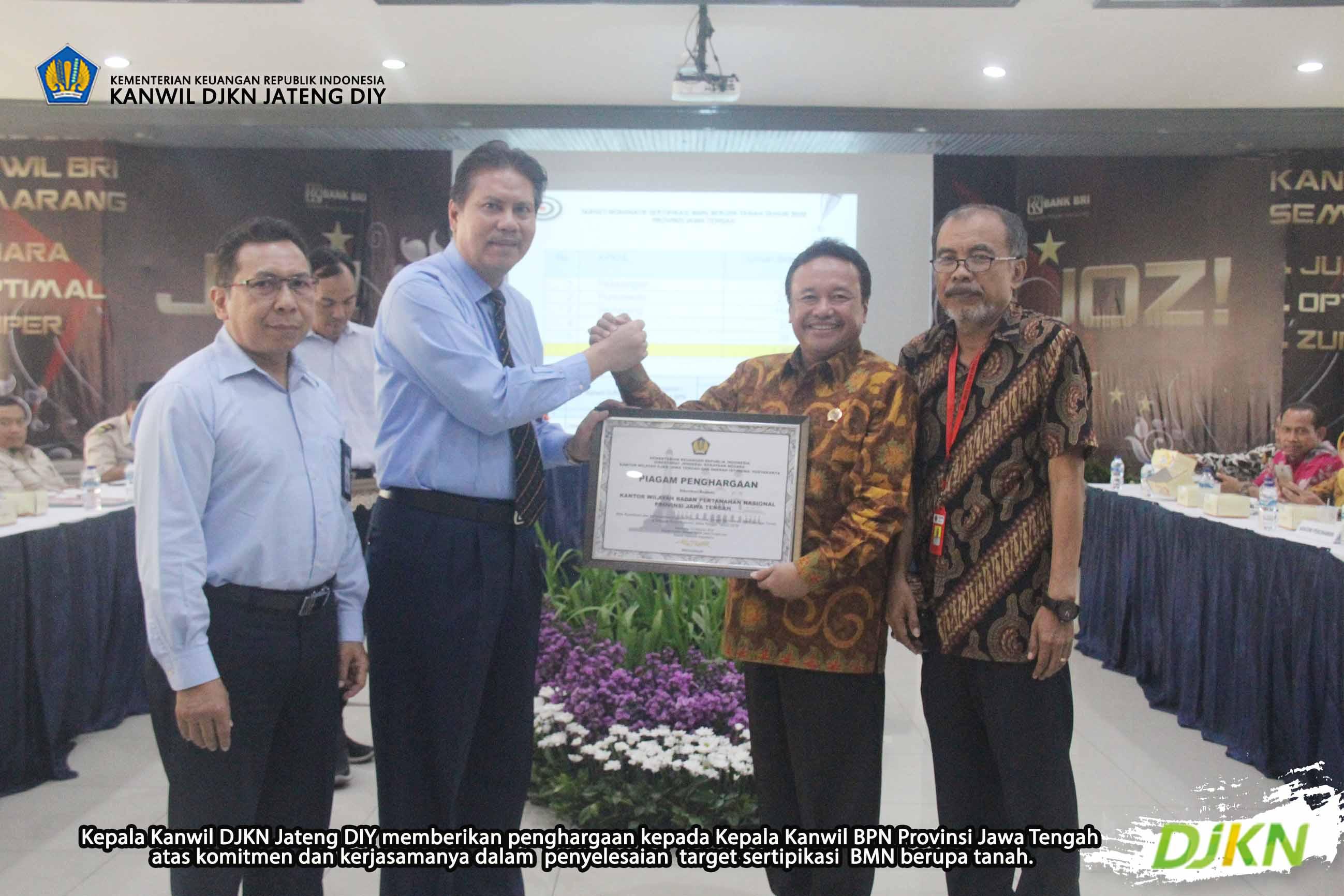 Gelar Rapat Monitoring Program Sertipikasi BMN, Kanwil DJKN Jateng DIY Berikan Apresiasi kepada BPN
