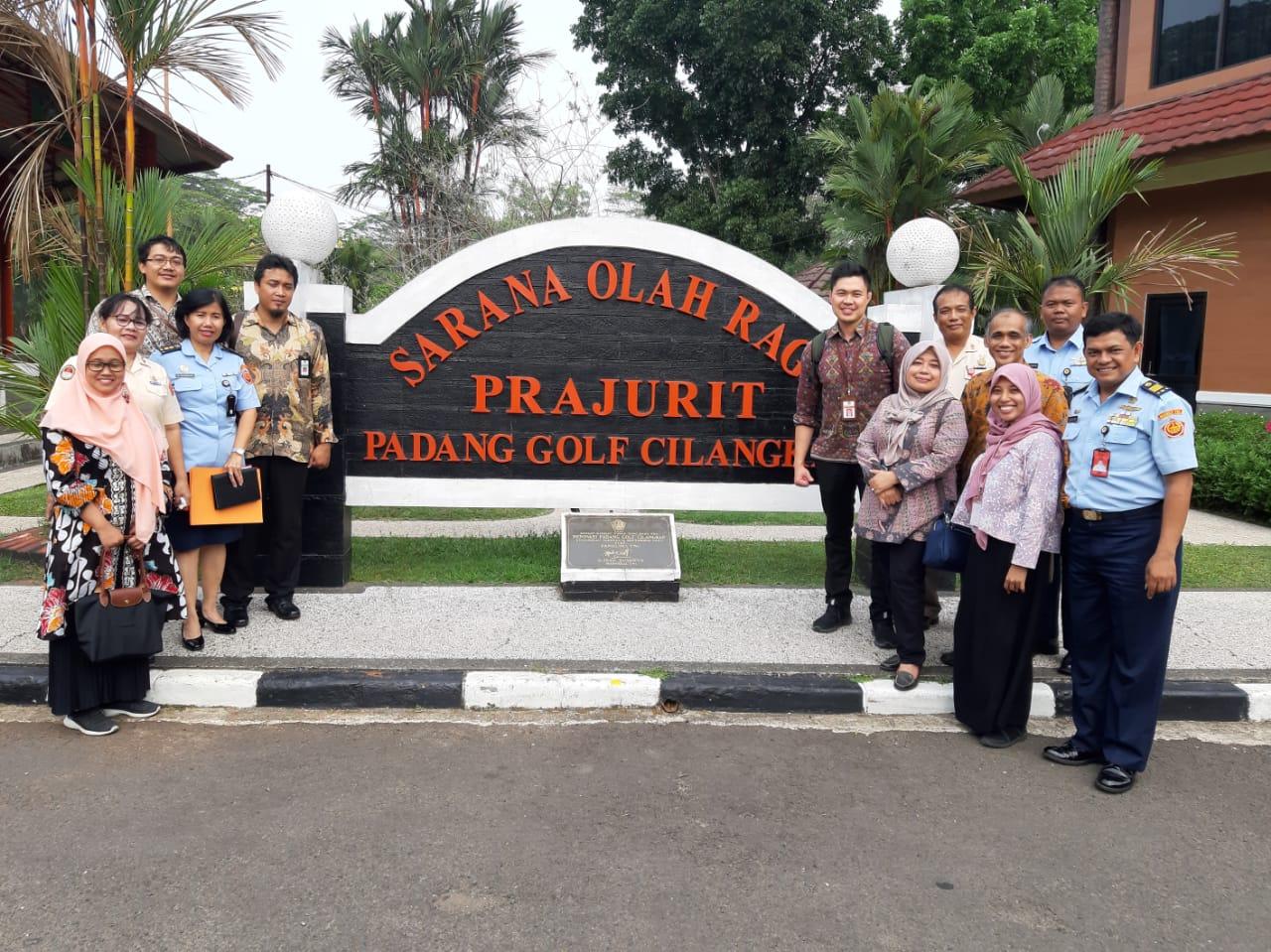 Pemantauan Pemanfaatan BMN oleh Itjen Kemenkeu dan KPKNL Jakarta V di Lokasi Padang Golf Cilangkap, Mabes TNI