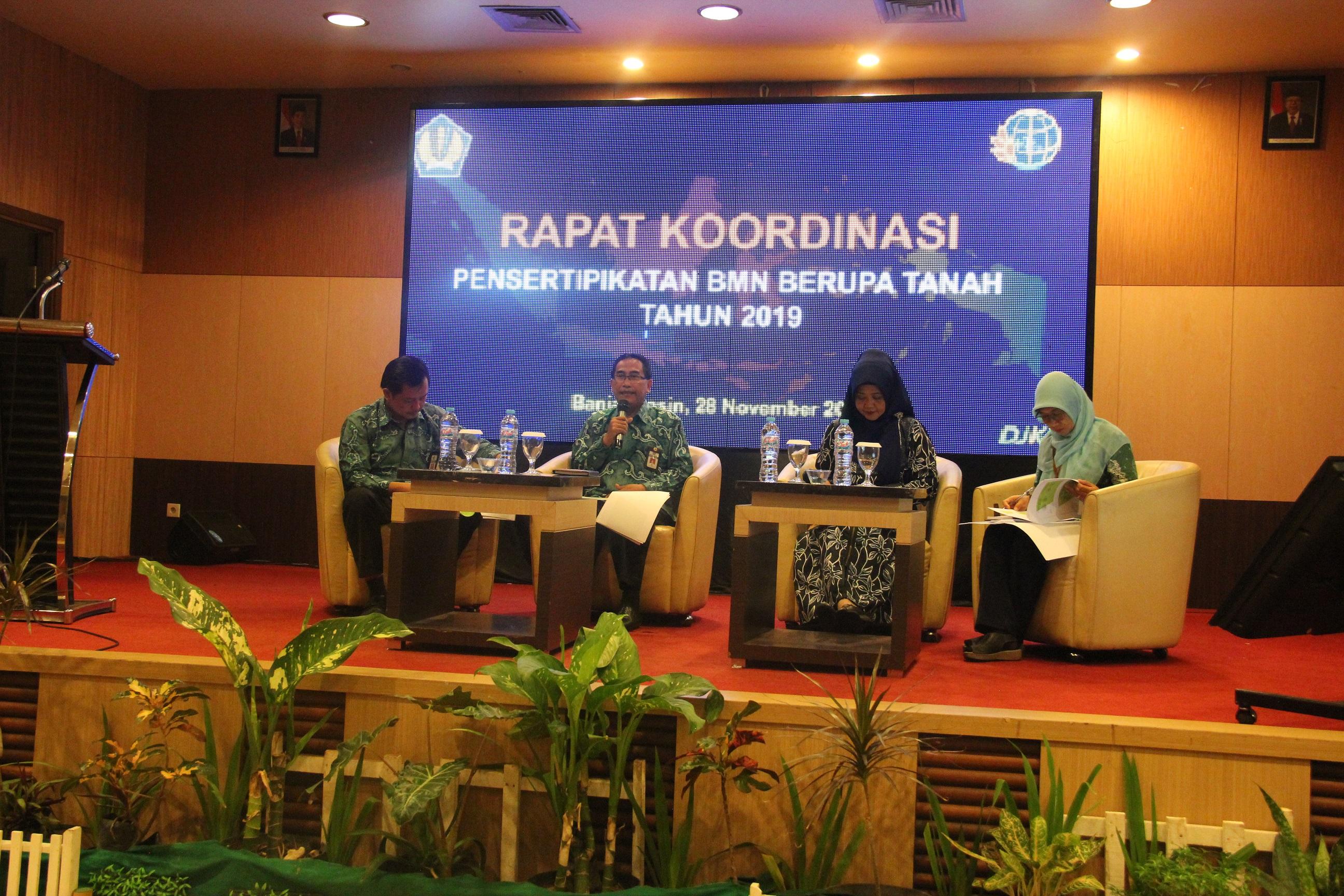 Rapat Koordinasi Sertipikasi BMN berupa Tanah Tahun 2019