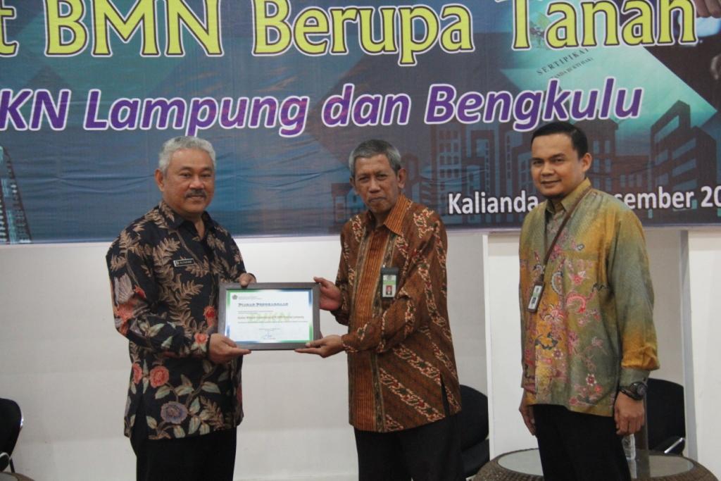 Serah Terima Sertipikat BMN Berupa Tanah Tahun 2019 di Wilayah Provinsi Lampung