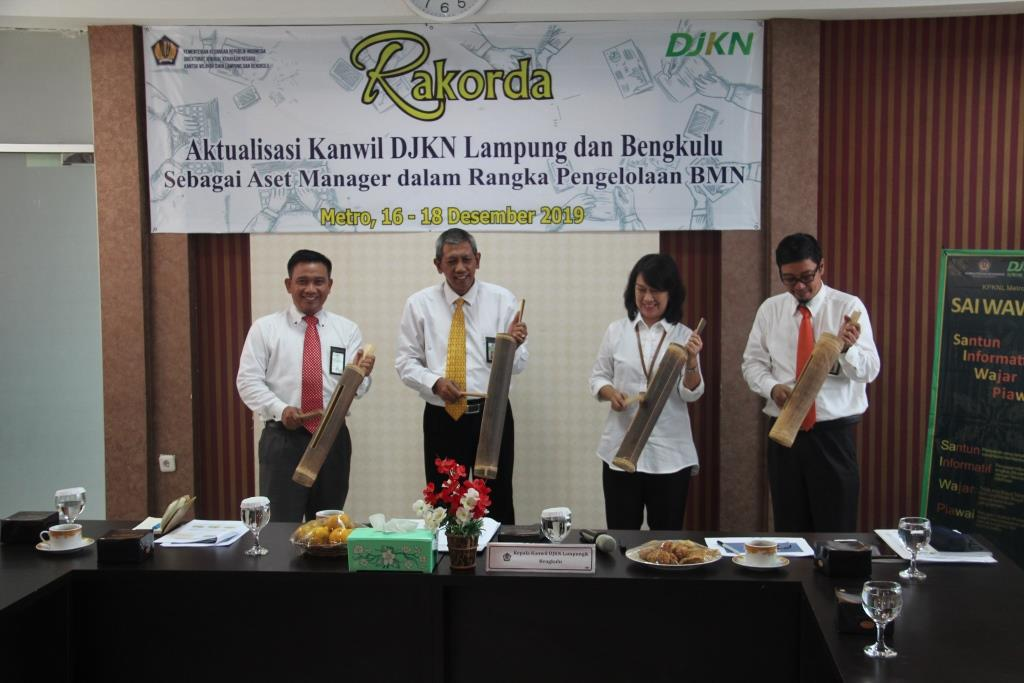 RAKORDA DJKN LAMPUNG DAN BENGKULU 2019: Aktualisasi Kanwil DJKN Lampung dan Bengkulu Sebagai Aset Manager Dalam Rangka Pengelolaan BMN