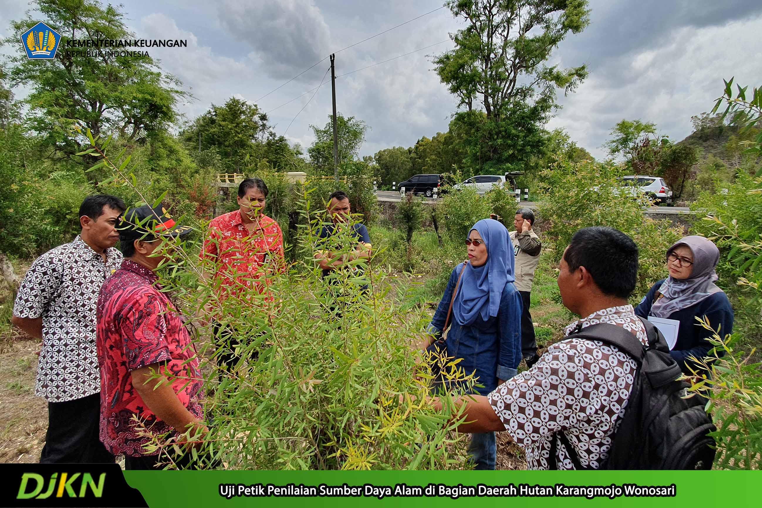 Penilai Kanwil DJKN Jateng DIY Lakukan Uji Petik Penilaian SDA Hutan Produksi