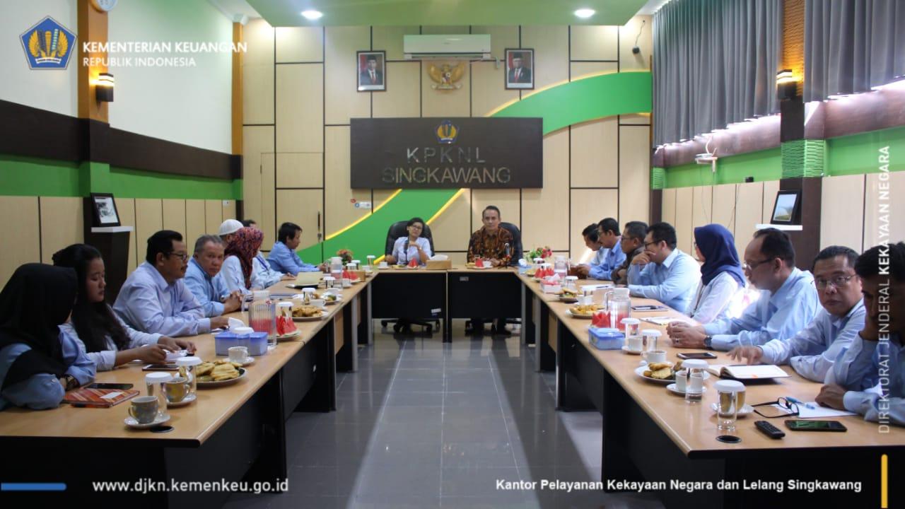 Kunjungan Kerja Kepala Kanwil DJKN Kalimantan Barat ke KPKNL Singkawang