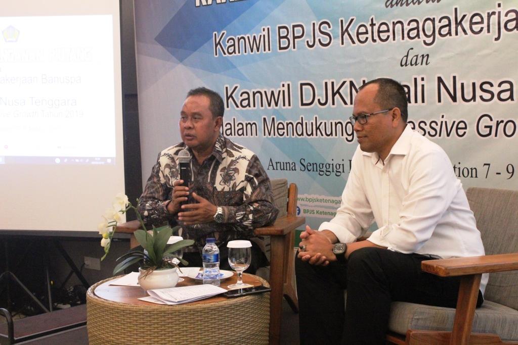Optimalkan Pengurusan Piutang Negara, Kanwil BPJS Ketenagakerjaan Banuspa adakan Rapat Koordinasi Bersama Kanwil DJKN Bali Nusra