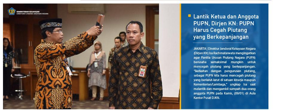 Lantik Ketua dan Anggota PUPN, Dirjen KN: PUPN Harus Cegah Piutang yang Berkepanjangan