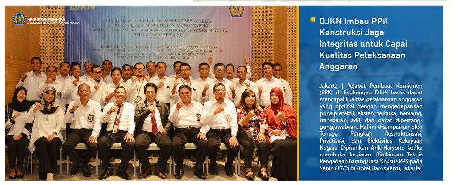 DJKN Imbau PPK Konstruksi Jaga Integritas untuk Capai Kualitas Pelaksanaan Anggaran