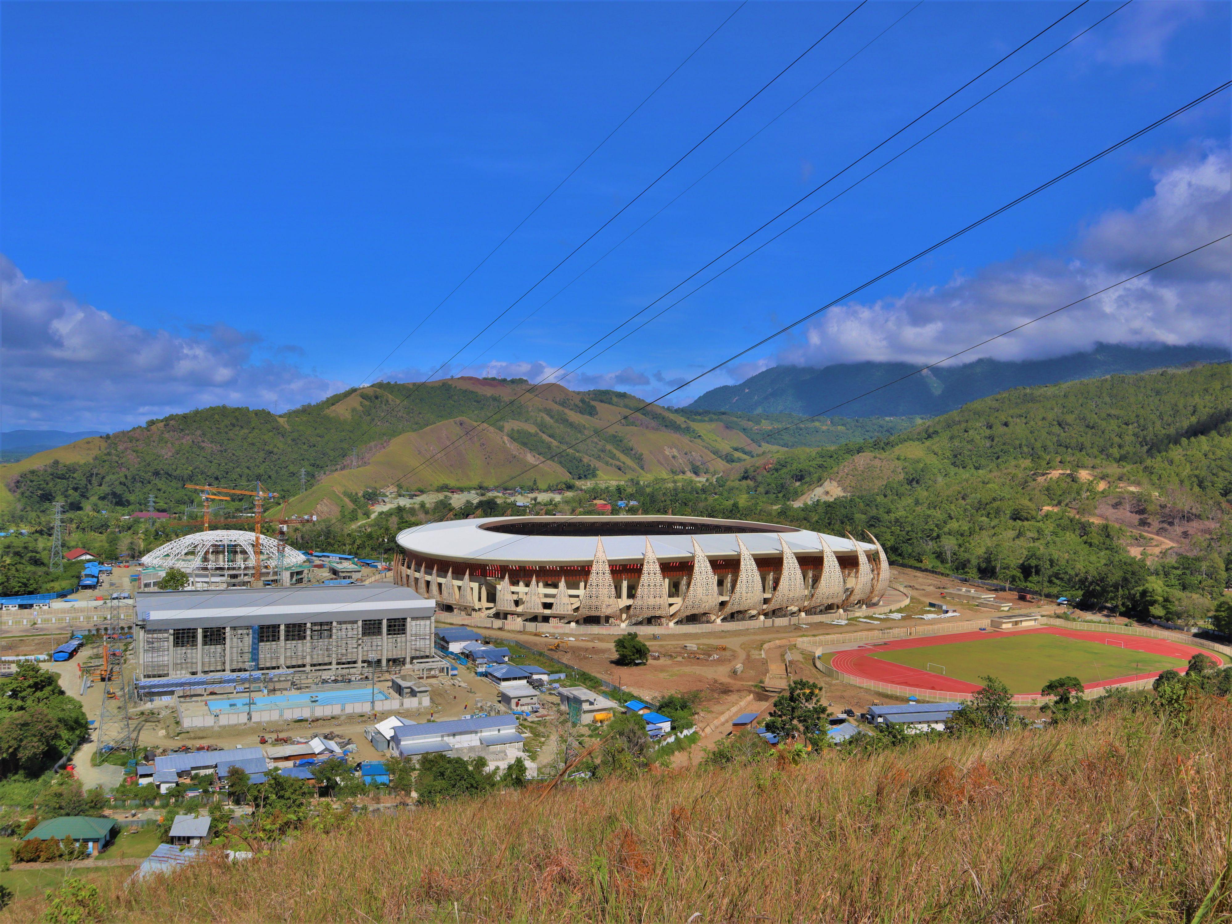 Kesiapan Stadion Papua Bangkit dalam Menyambut PON XX 2020 Papua