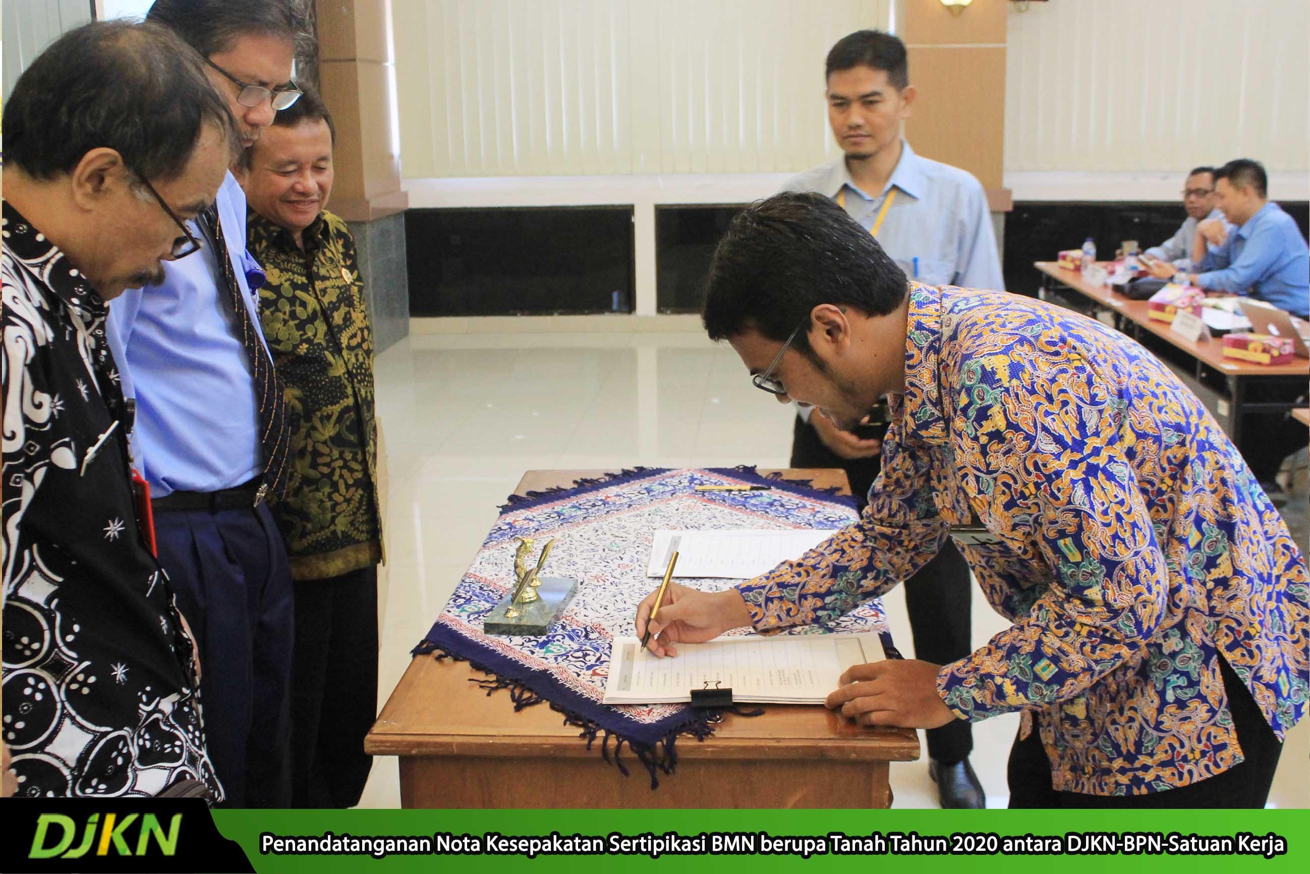Sepakat, Kanwil DJKN Jateng & DIY dan Kanwil BPN Jawa Tengah Sepakati Sertipikasi 1.466 Bidang Tanah di Tahun 2020