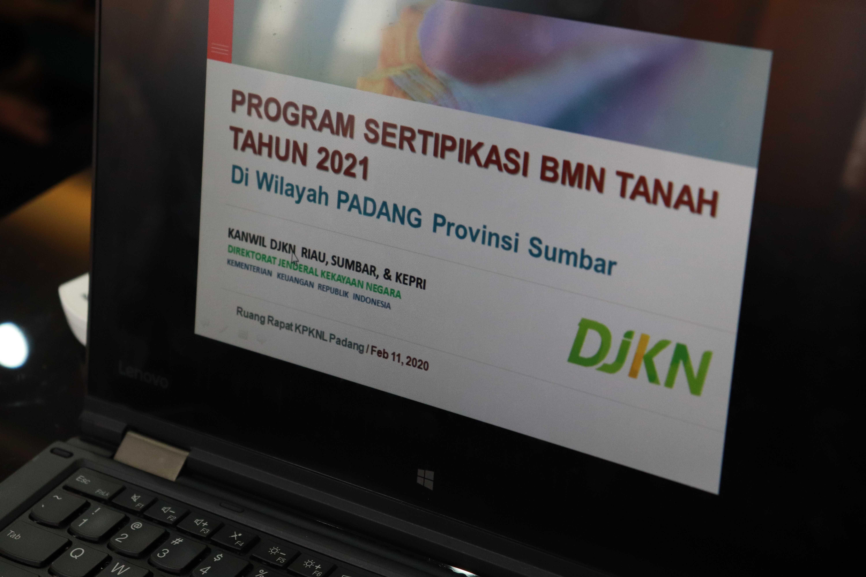 Rapat Koordinasi Penyusunan Daftar Indikatif Sertipikasi BMN Tahun 2021 di wilayah kerja KPKNL Padang