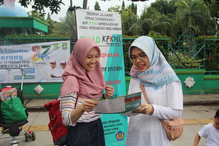 Semarakkan HUT ke-27 Kota Tangerang, KPKNL Tangerang I Sosialisasikan Layanan KPKNL Kepada Masyarakat