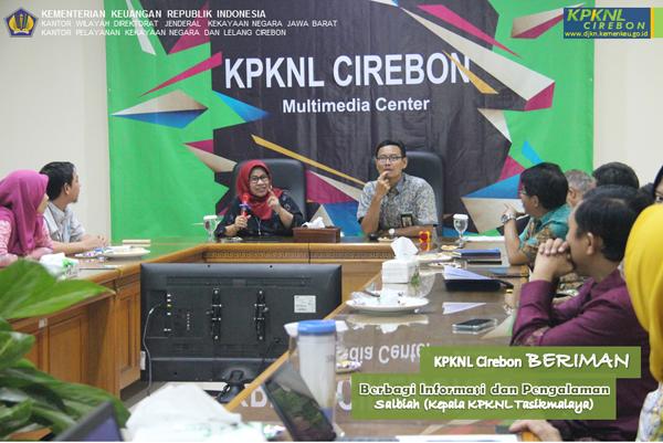Giliran Kepala KPKNL Tasikmalaya Berbagi Informasi dan Pengalaman ke KPKNL Cirebon
