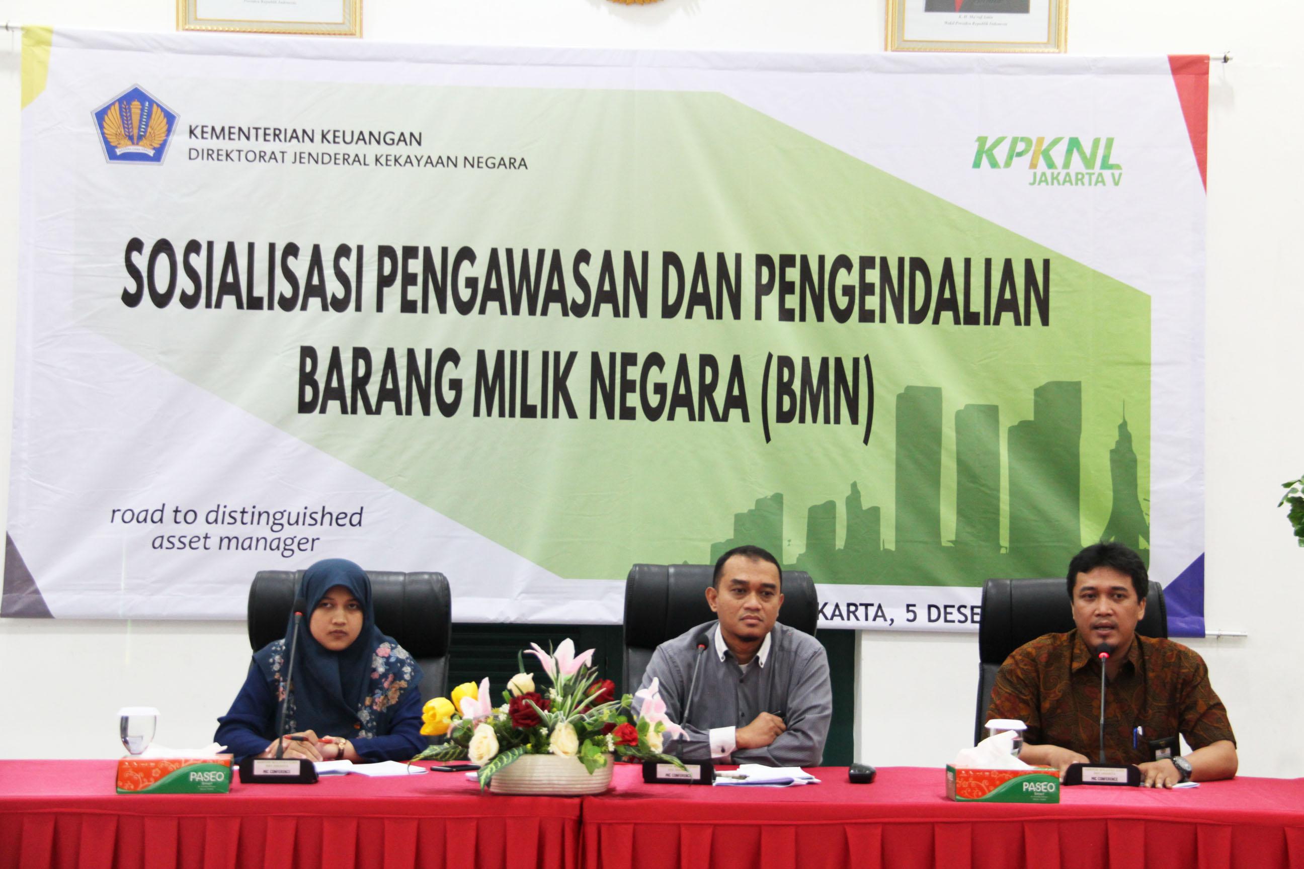 Tingkatkan Sinergi, KPKNL Jakarta V Gelar Sosialisasi Pengawasan dan Pengendalian BMN