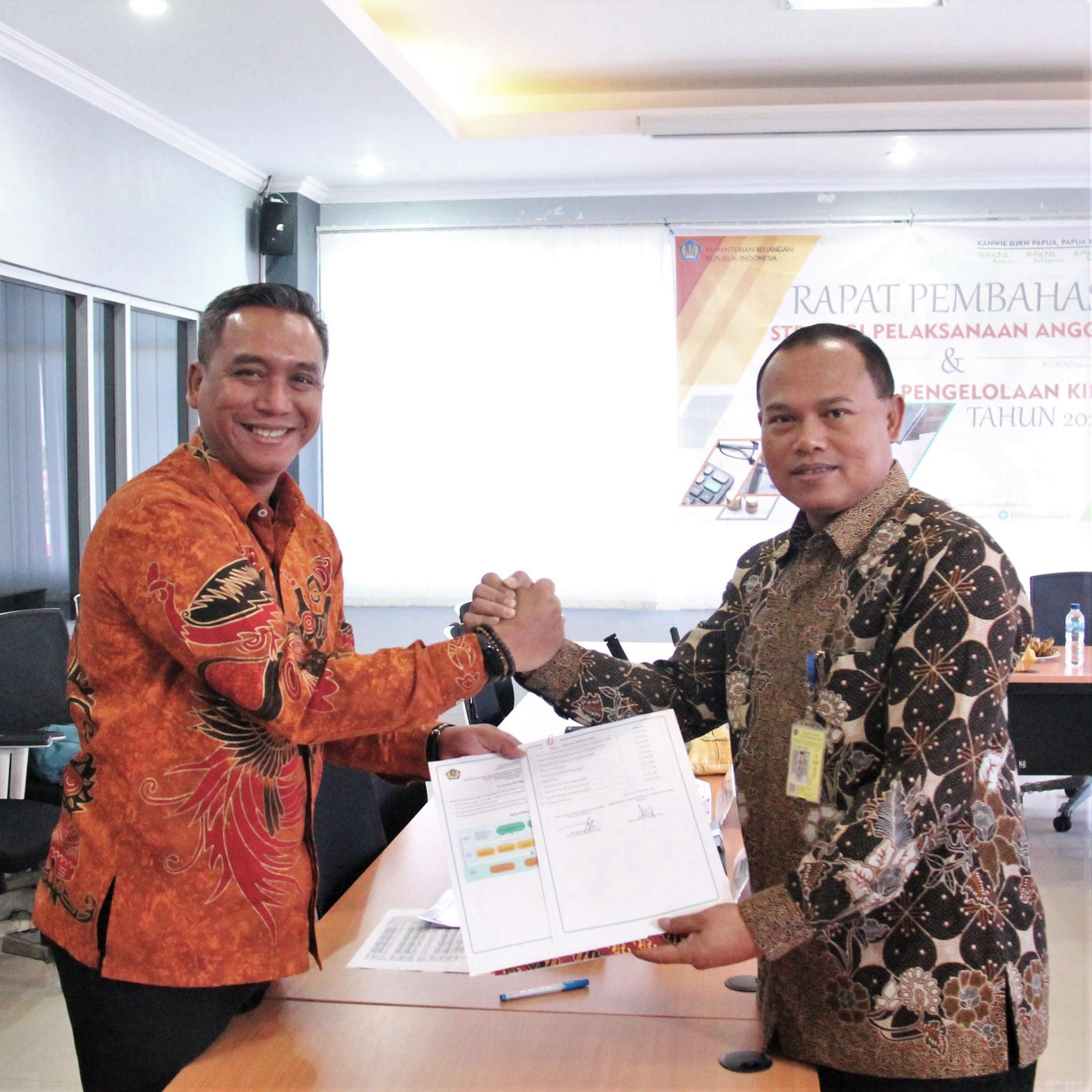 Penandatanganan Kontrak Kinerja 2020 Kanwil DJKN Papabaruku
