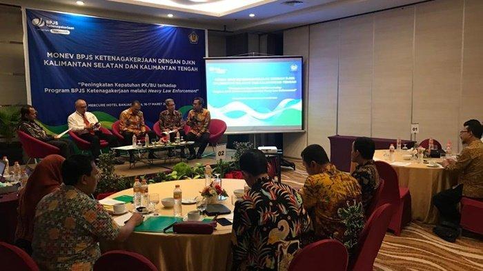BPJamsostek dan DJKN Laksanakan Monitoring Evaluasi, Total 27 Piutang se-Kalselteng