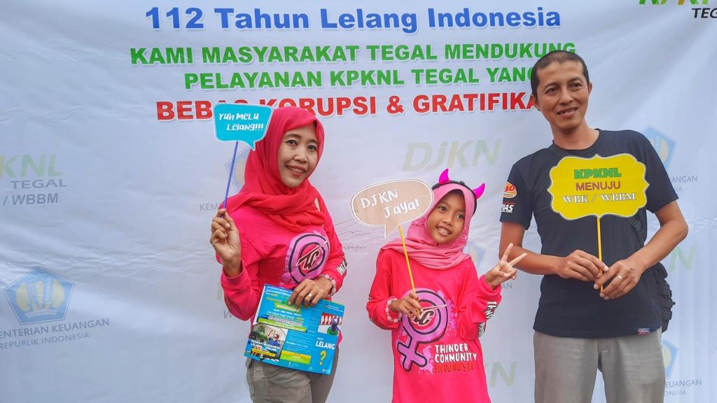 Peringatan 112 Tahun Lelang Indonesia dan Kampanye KPKNL Tegal Menuju WBBM