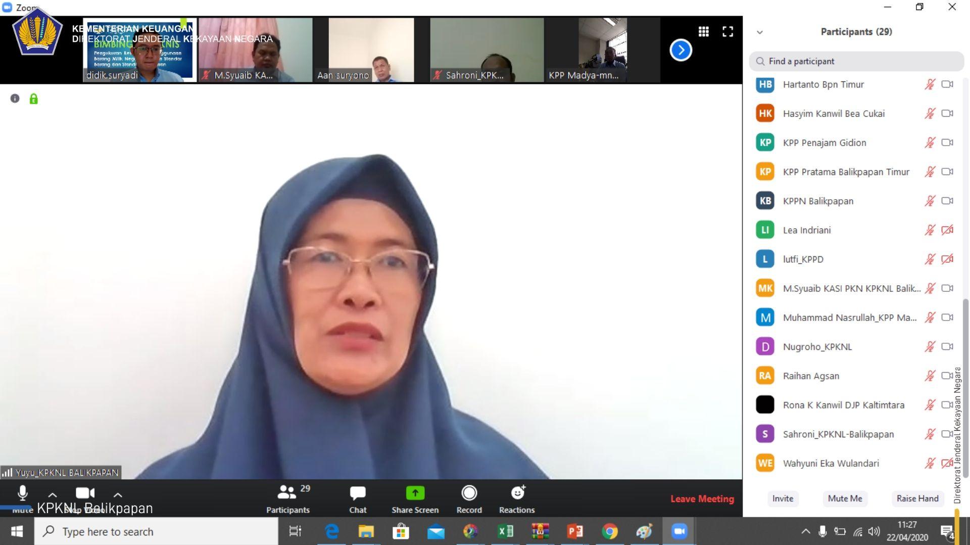 WFH Tak Halangi Produktivitas, KPKNL Balikpapan Tetap Laksanakan Bimtek SBSK