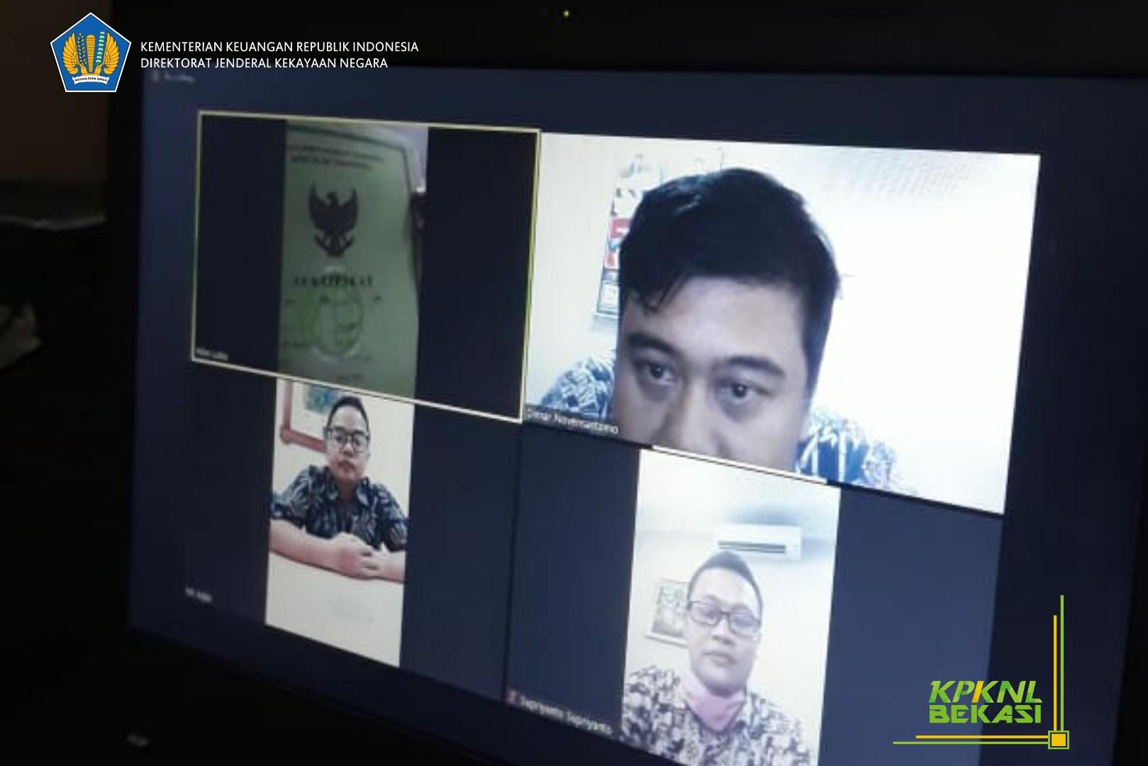 Social Distancing, Layanan Lelang KPKNL Bekasi melalui Video Conference