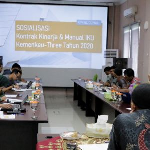 Sosialisasi IKU Kemenkeu-Three KPKNL Dumai Tahun 2020