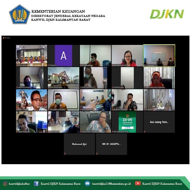Optimalkan Lelang Kanwil BRI Jakarta 3 Cluster Kalbar Gelar Pertemuan Virtual