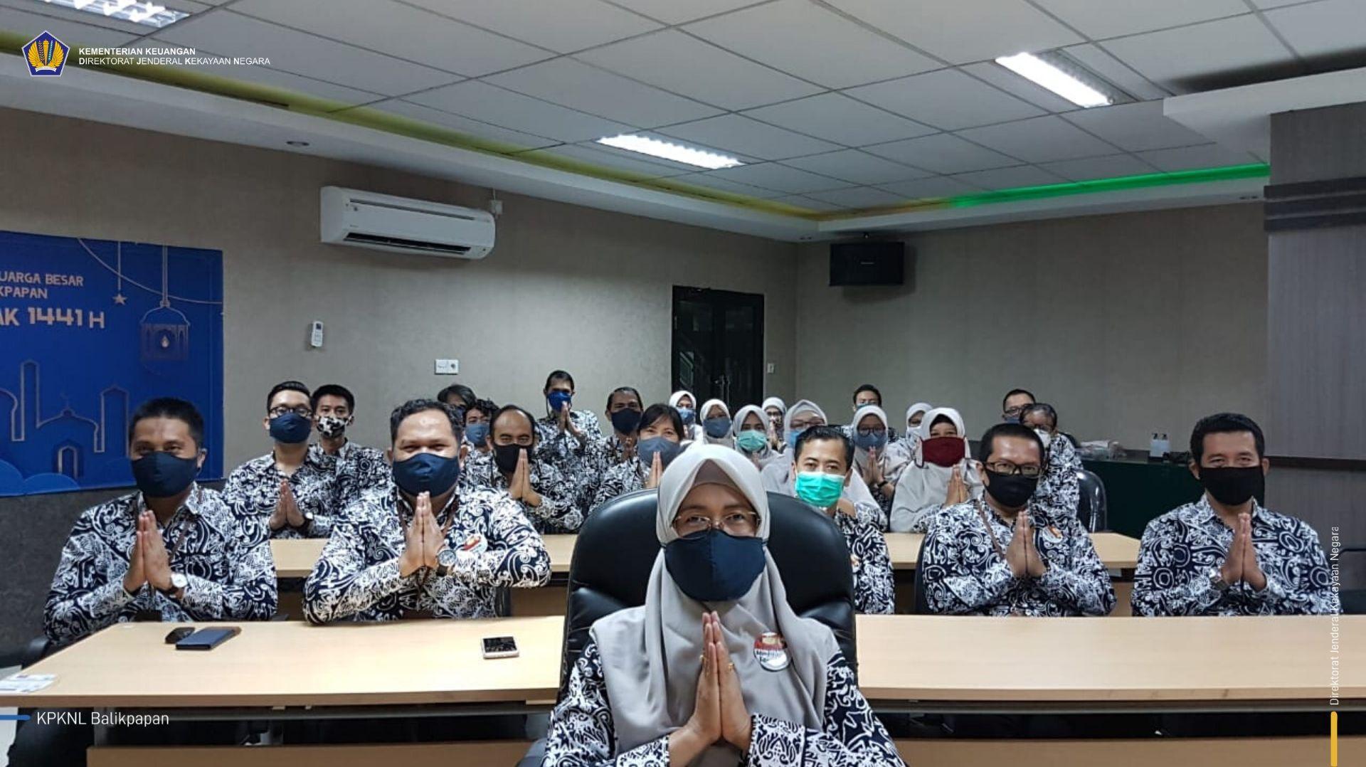 KPKNL Balikpapan Ikuti Silaturahmi Virtual dengan Dirjen KN