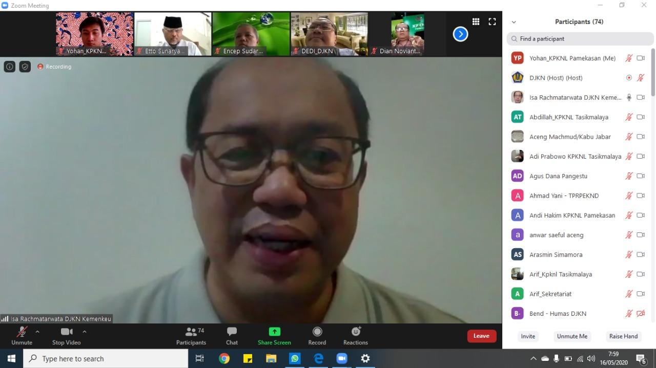 Virtual Visit Dirjen KN, Recharge Semangat Pegawai KPKNL Pamekasan