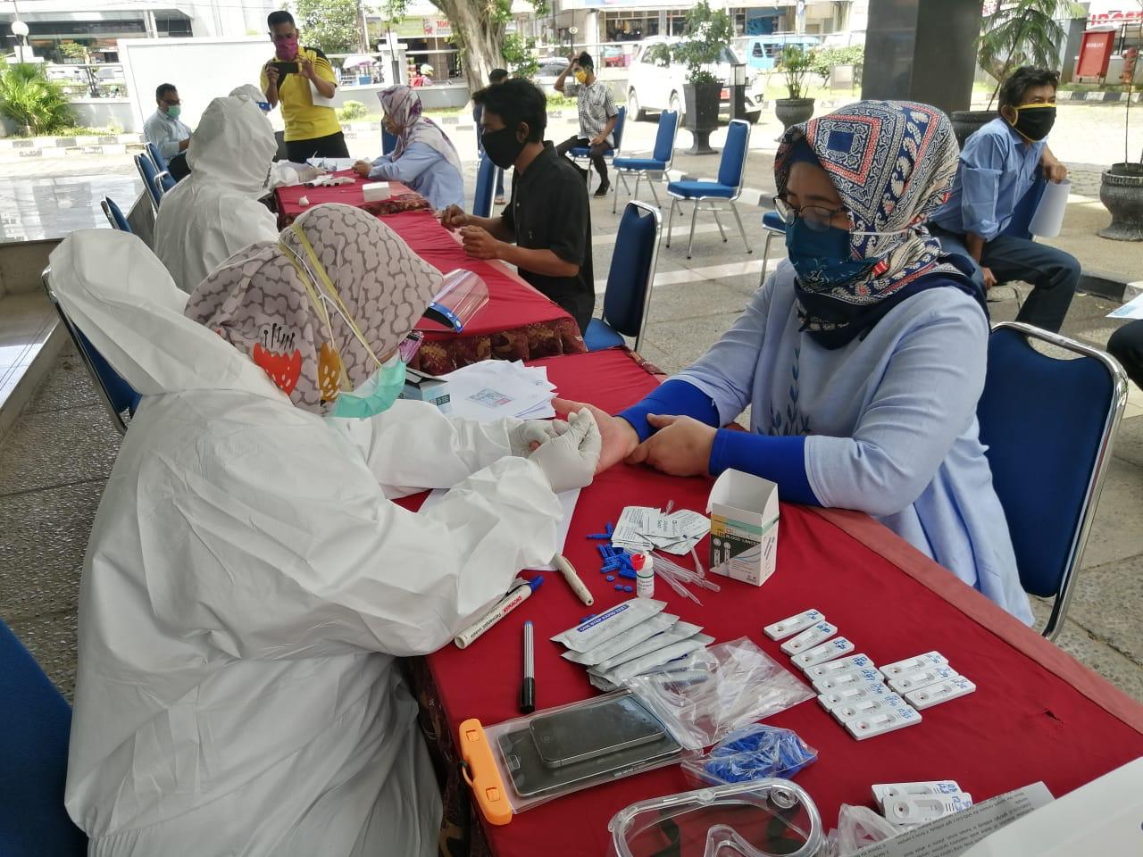 Lakukan Pencegahan Covid-19, Kanwil DJKN Banten Lakukan Rapid Test