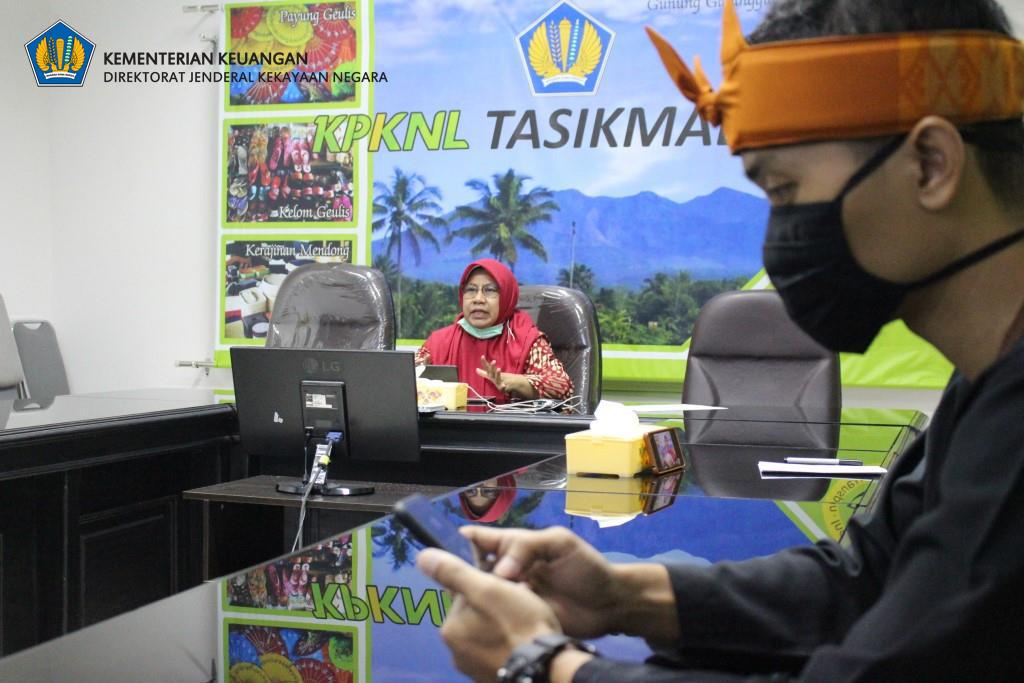 KPKNL Tasikmalaya Laksanakan FGD Kode Etik Pegawai Secara Online