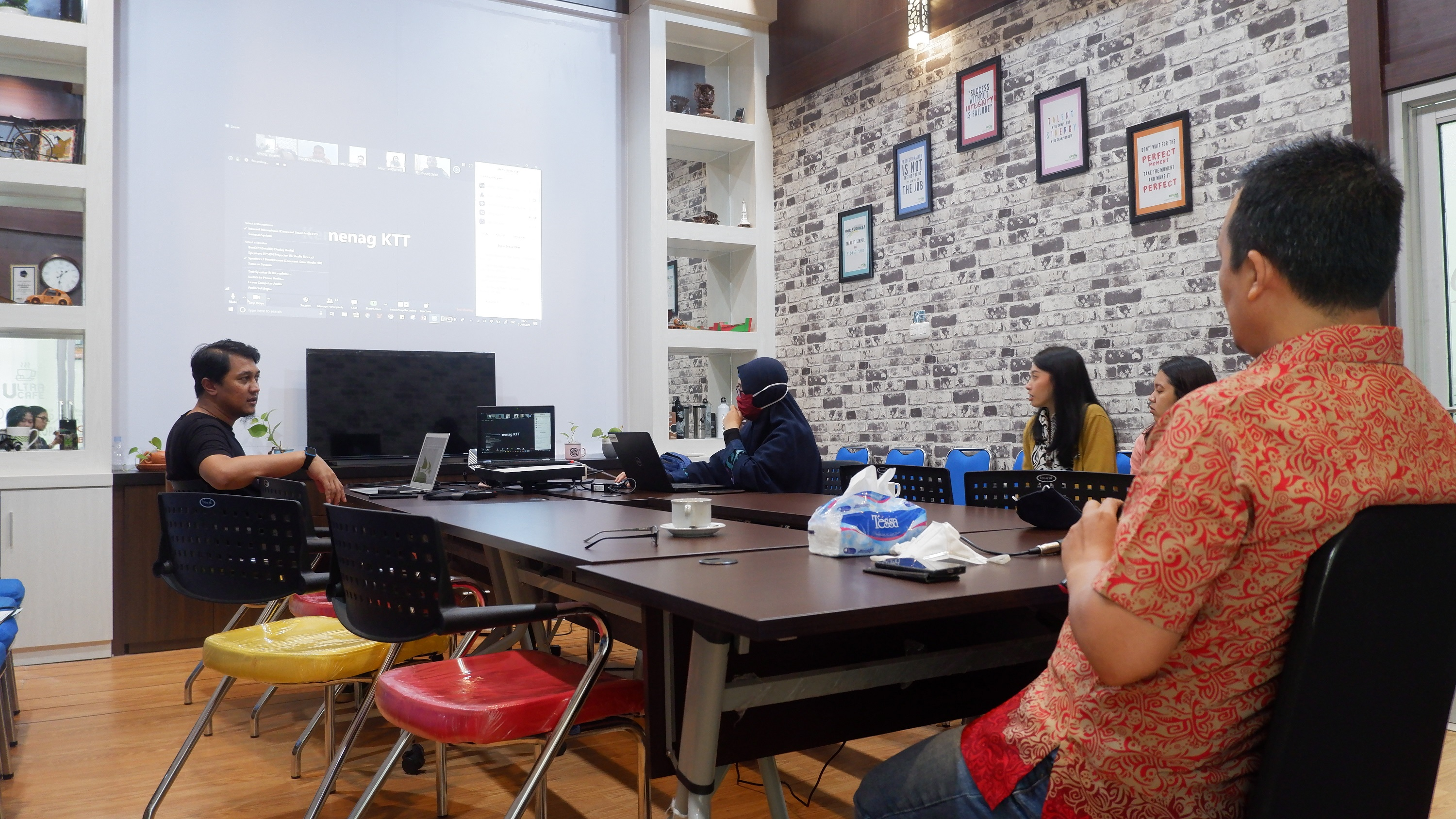 Video Conference Revaluasi BMN Tahun 2020