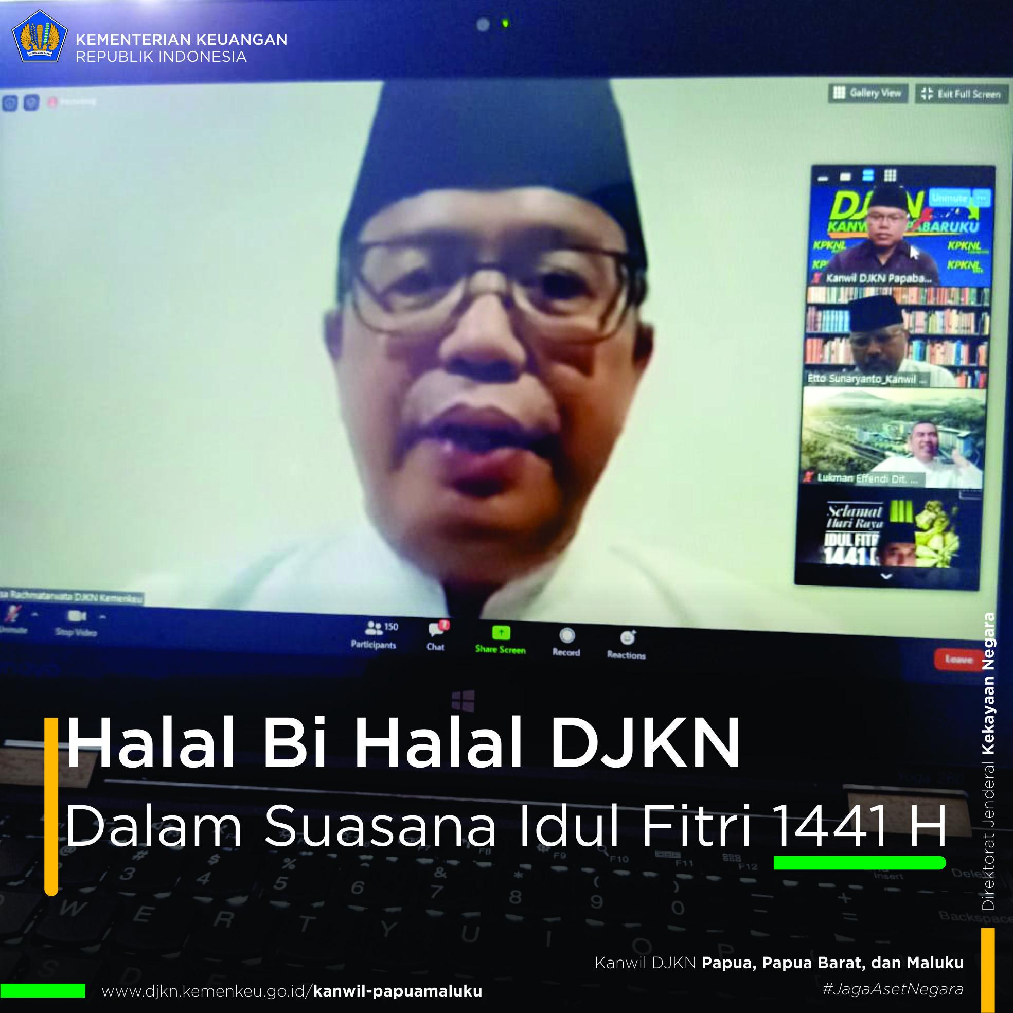 Halal Bi Halal DJKN Dalam Suasana Idul Fitri 1441 H