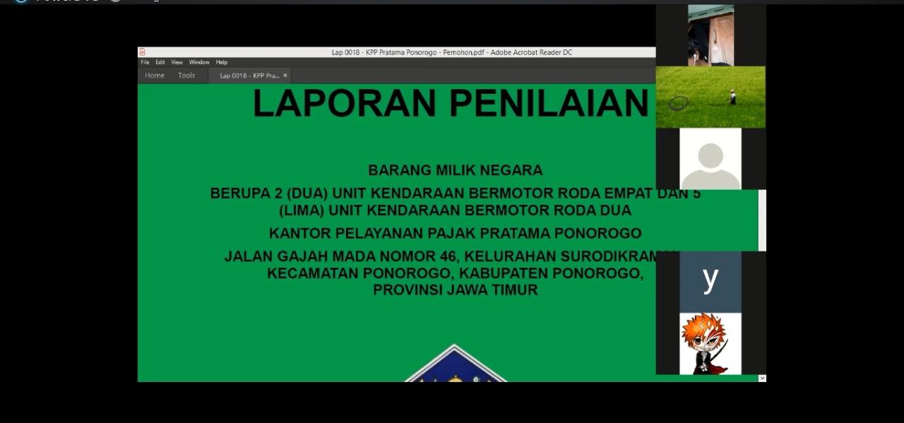 Pemaparan Konsep Laporan Penilaian BMN pada KPKNL Madiun