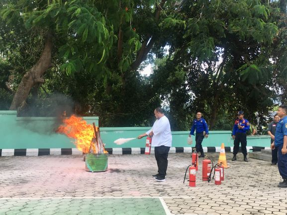 KPKNL Bandar Lampung Tanggap Bencana Kebakaran
