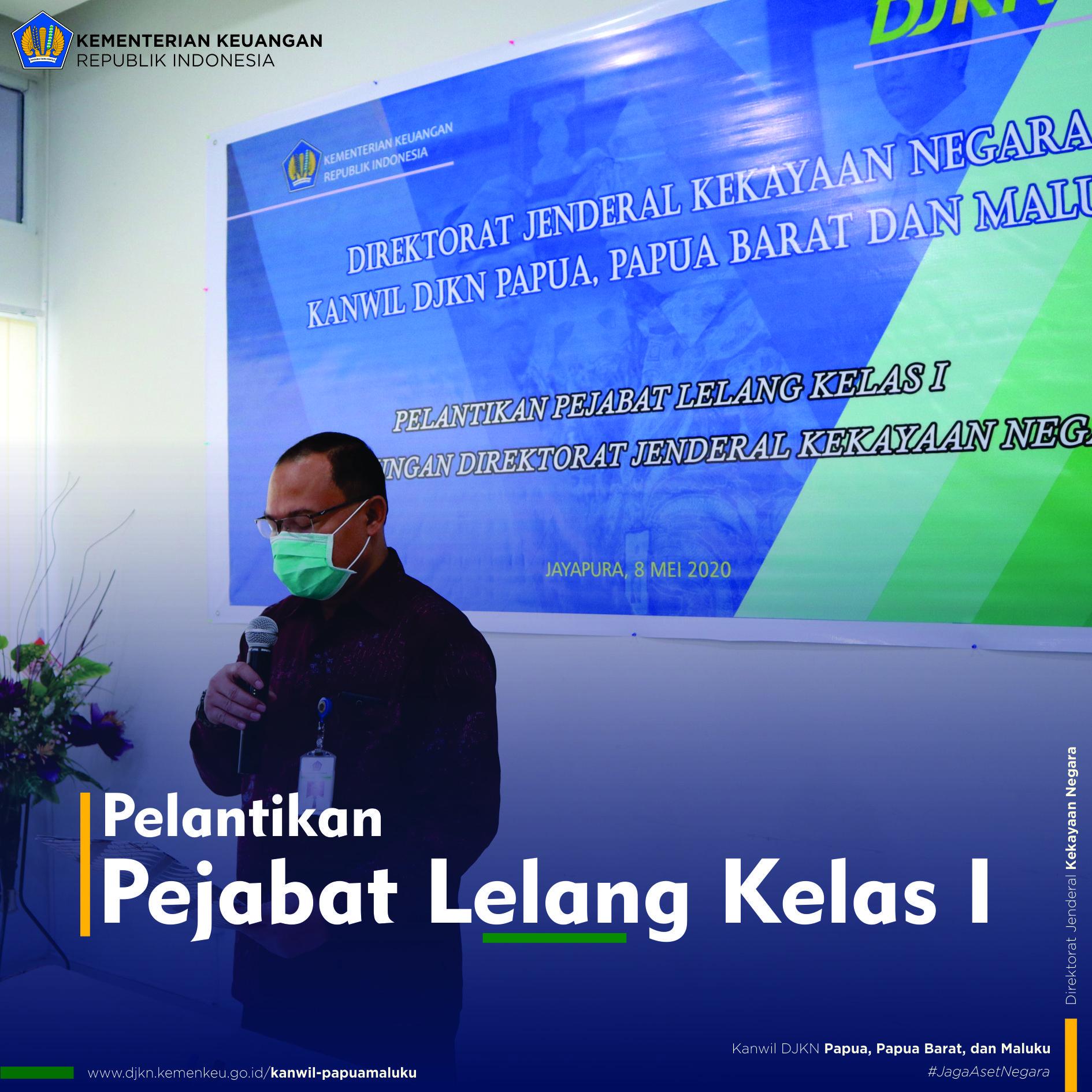 Pelantikan Pejabat Lelang Kelas I dari KPKNL Jayapura