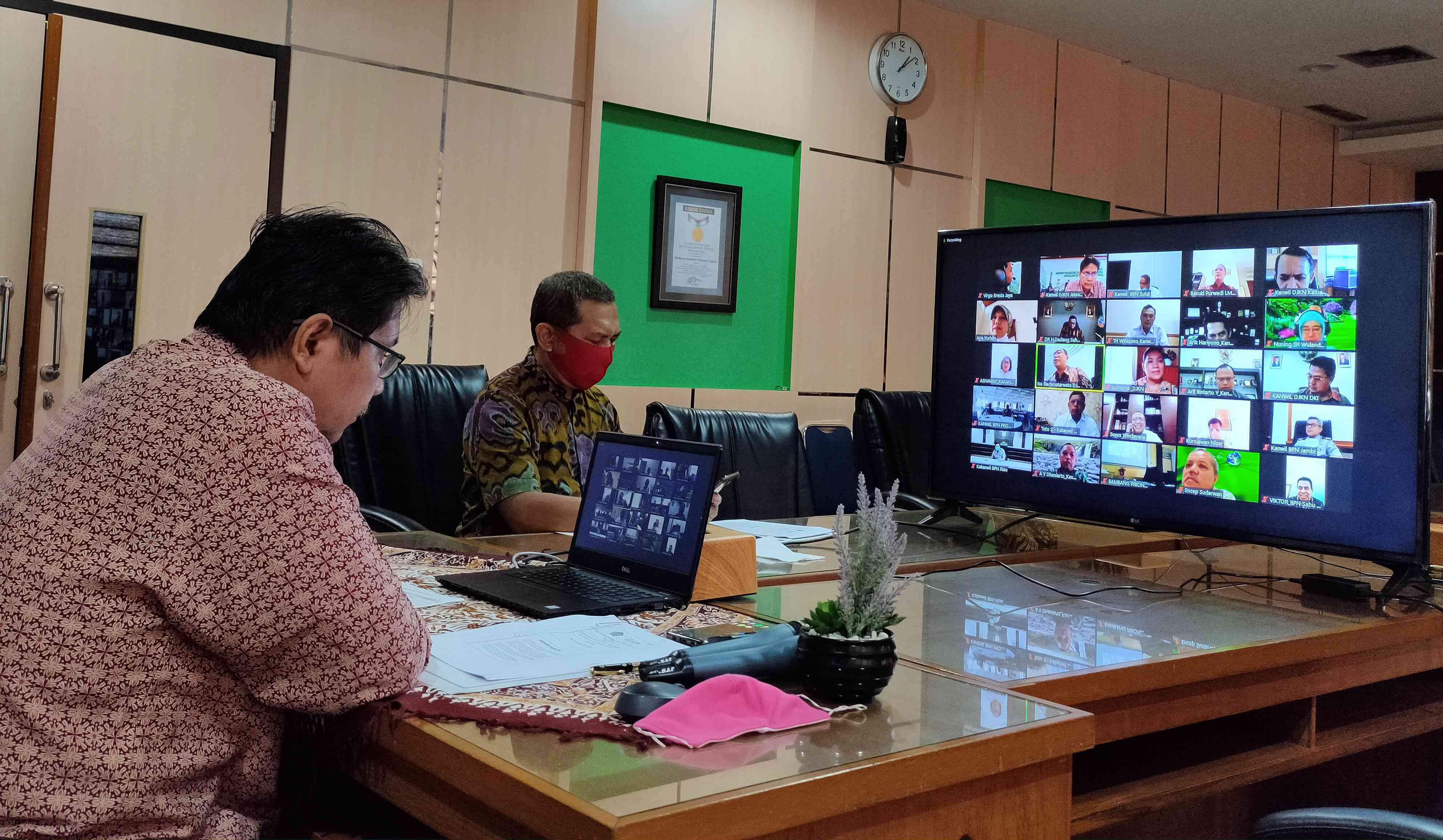 Virtual Meeting Kebijakan Satu Peta terkait tanah BMN dan Perpanjangan Hak atas Tanah Milik Negara Eks BPPN