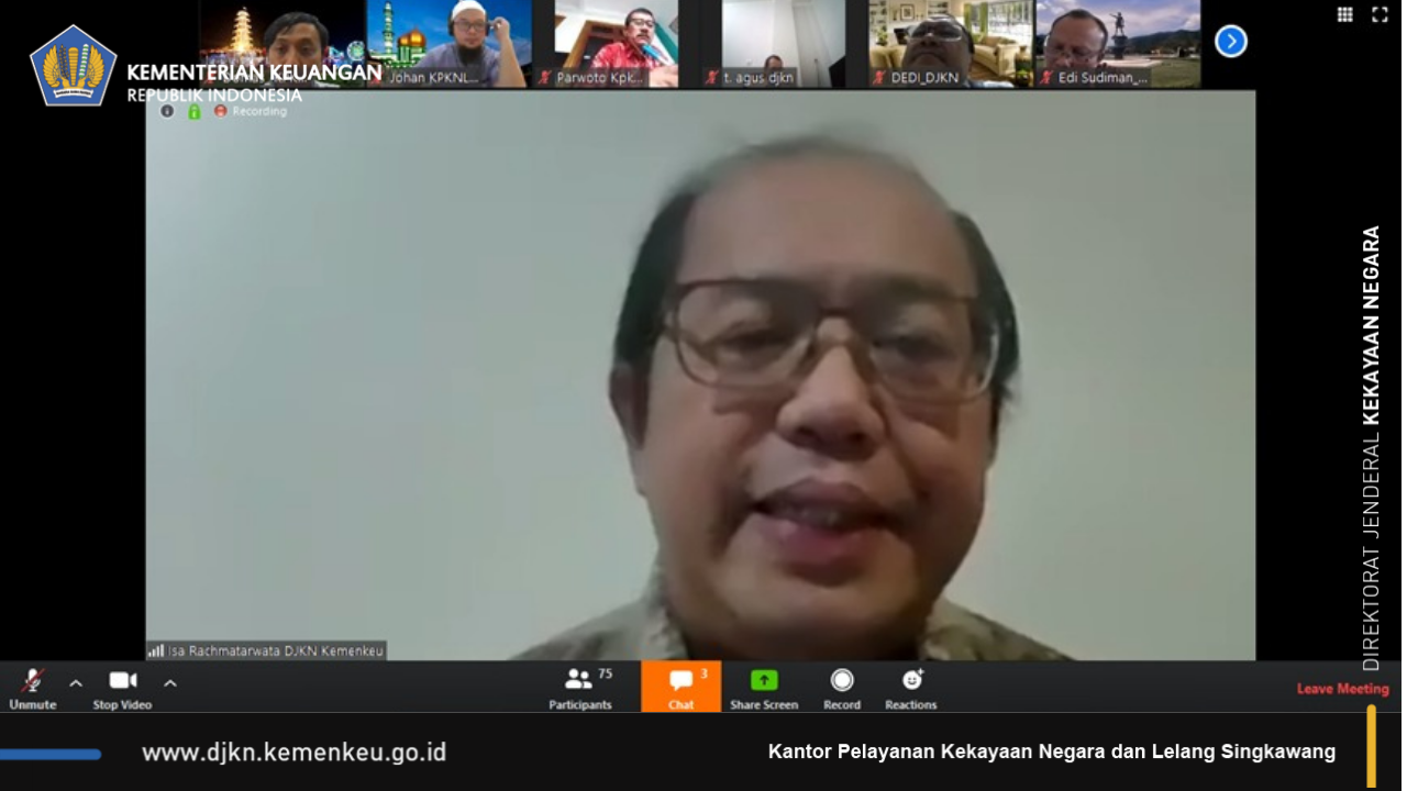 Virtual Meeting Dirjen Kekayaan Negara dengan KPKNL Singkawang