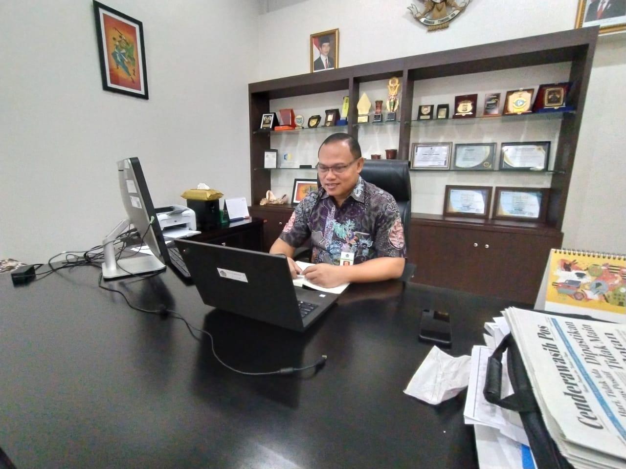 Kanwil DJKN papabaruku dalam Pembahasan Tindak Lanjut Arahan Menteri Keuangan terkait Konsep  Baru Bekerja dan Tempat Kerja