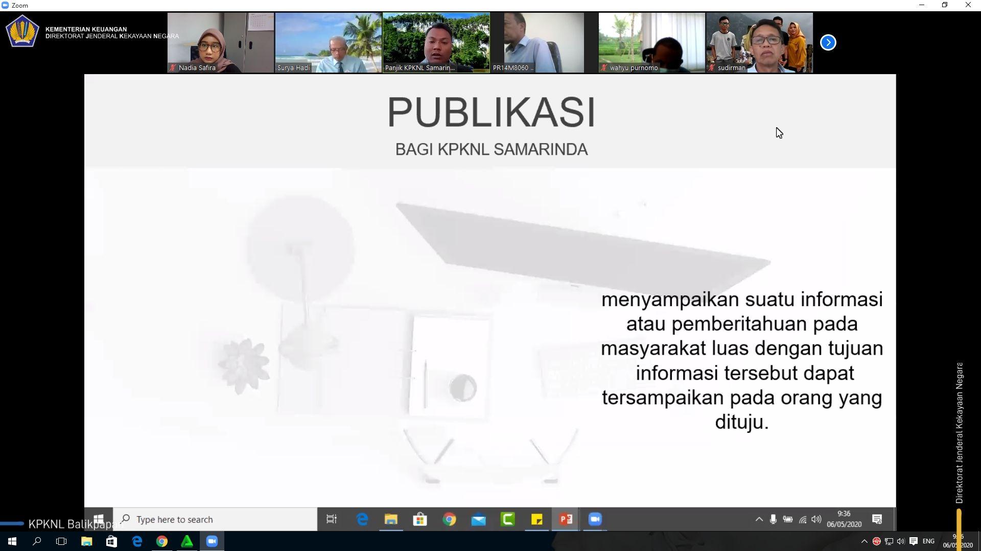 Tingkatkan Skill Kehumasan, KPKNL Balikpapan Ikuti Knowledge Sharing Public Relation