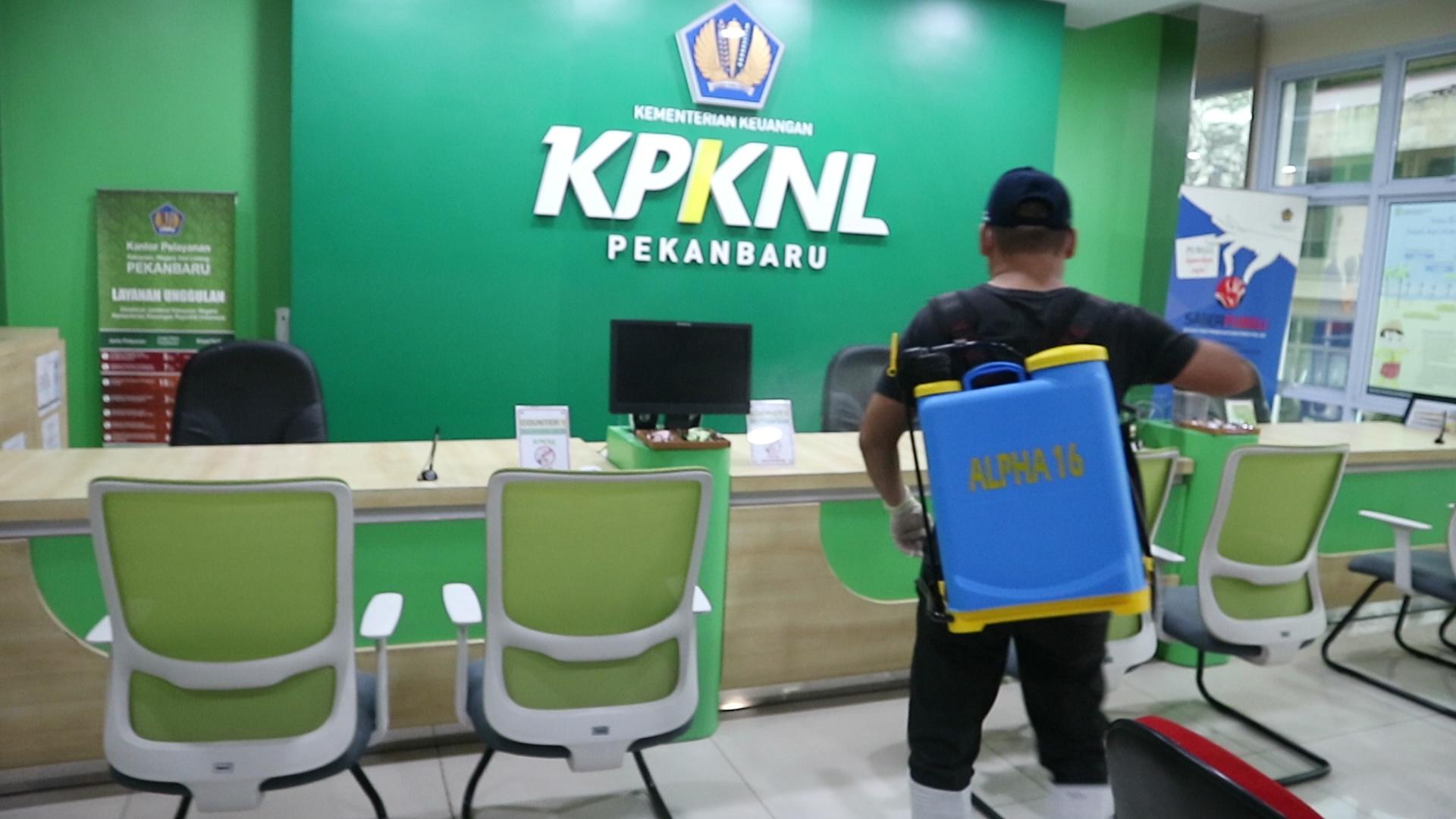 KPKNL Pekanbaru Cegah Penyebaran COVID-19