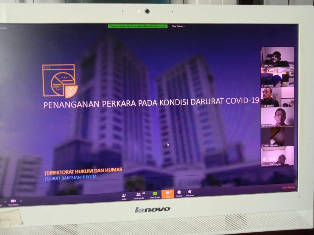 Siaga Covid-19, KPKNL Dumai Ikuti Video Conference Rapat Penanganan Perkara