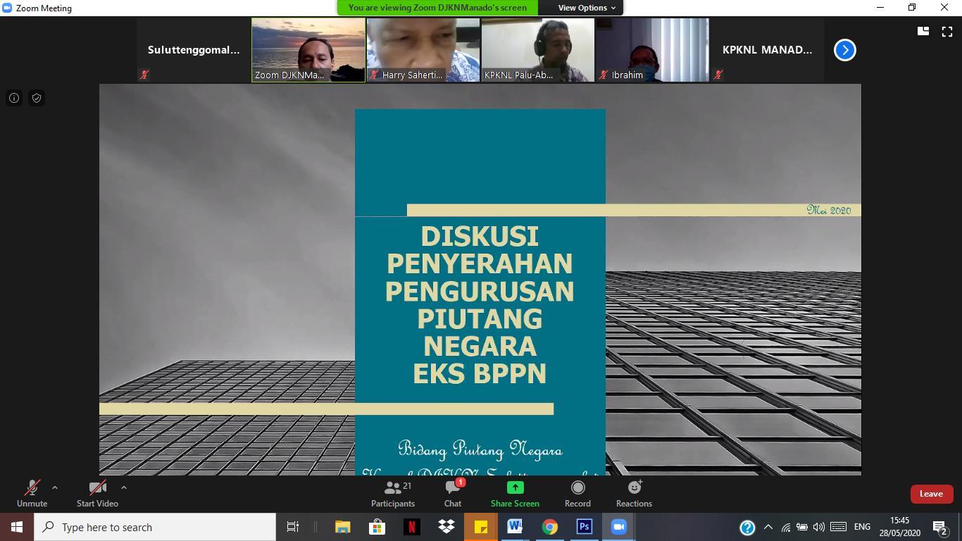 Respon Penyerahan Pengurusan PIutang Negara Eks BPPN, Bidang PN Adakan Diskusi Virtual