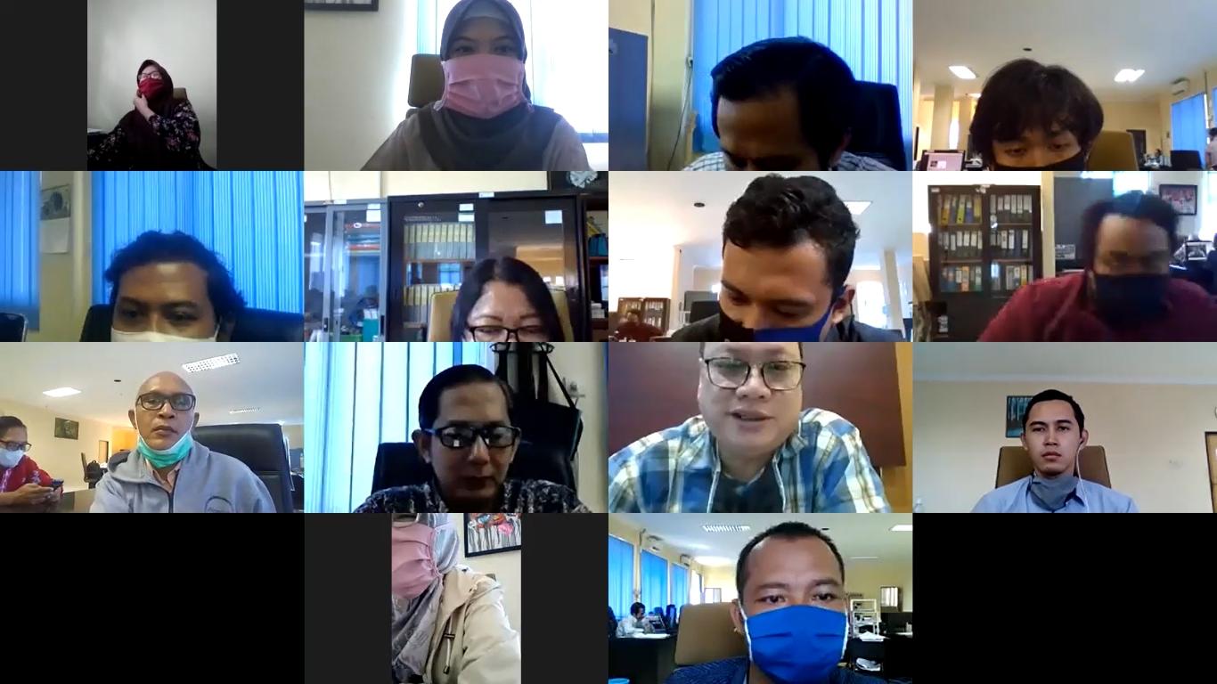 KPKNL Mataram Seragamkan Pemahaman terkait Kebijakan Keuangan Negara dan Sektor Keuangan dalam Menghadapi Pandemi Covid-19 melalui FGD.