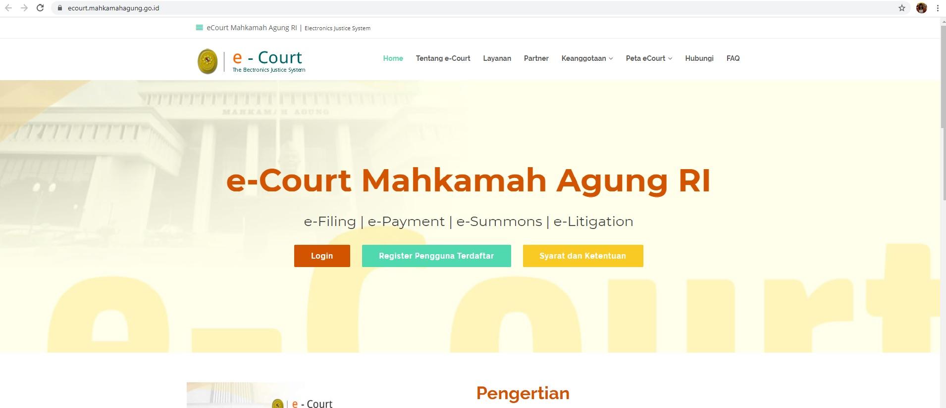 Era Baru Beracara di Pengadilan Melalui Sistem E-court