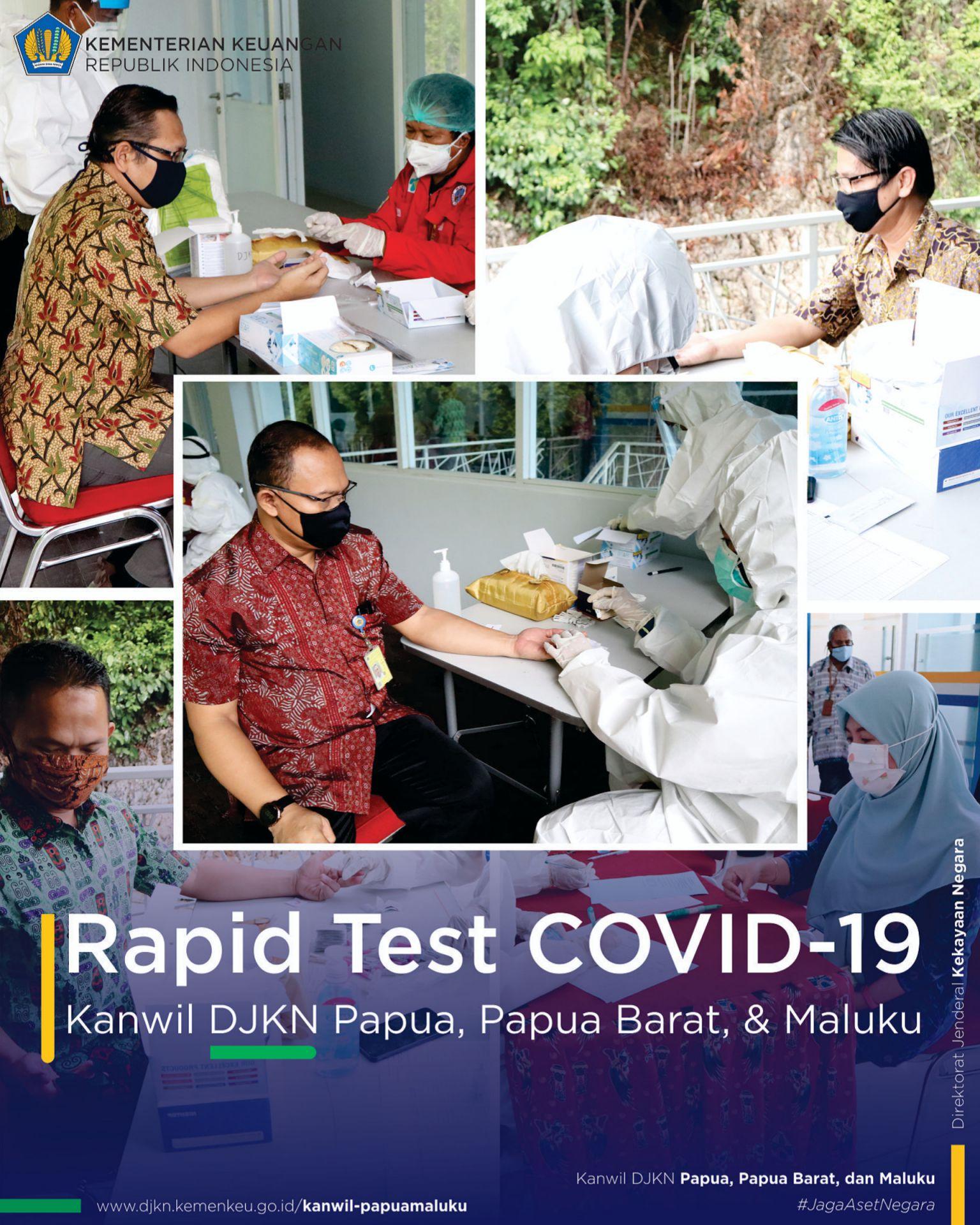 Kanwil DJKN Papabaruku Bersama Satgas Penanganan COVID-19 Provinsi Papua Adakan Rapid Test COVID-19 Bagi Pegawai