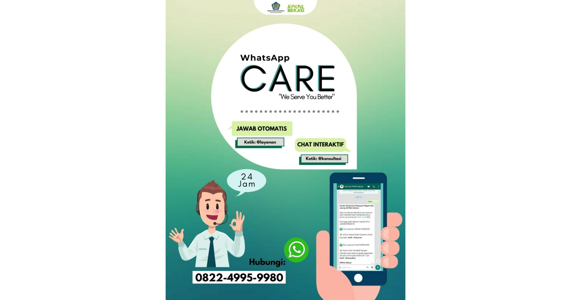 Layanan Informasi melalui Whatsapp KPKNL Bekasi