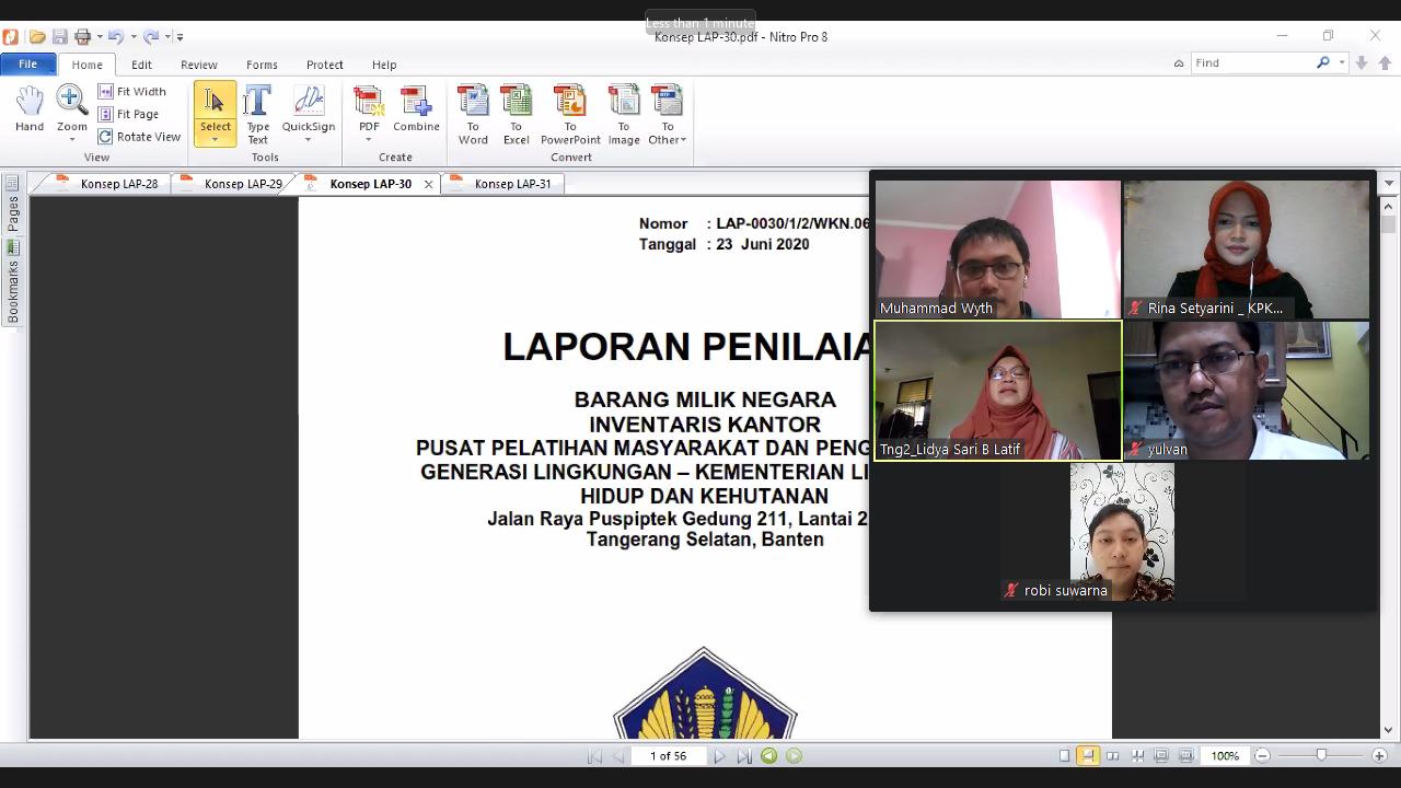 """Implementasi New Normal, KPKNL Tangerang II Lakukan """"Pemaparan Konsep Laporan Penilaian"""" Secara Daring"""